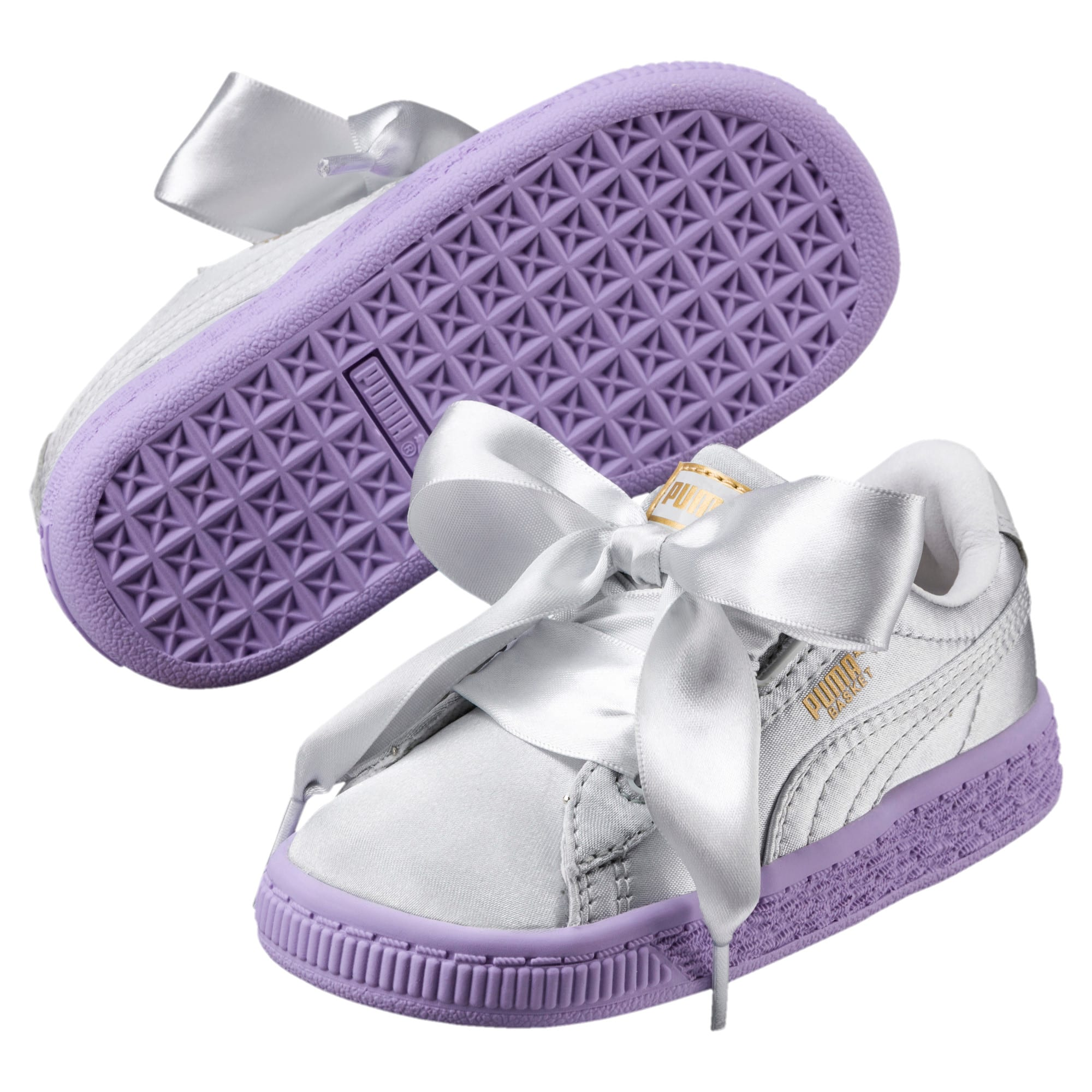 Thumbnail 2 of Basket Heart Toddler Shoes, Glacier Gray-Glacier Gray, medium