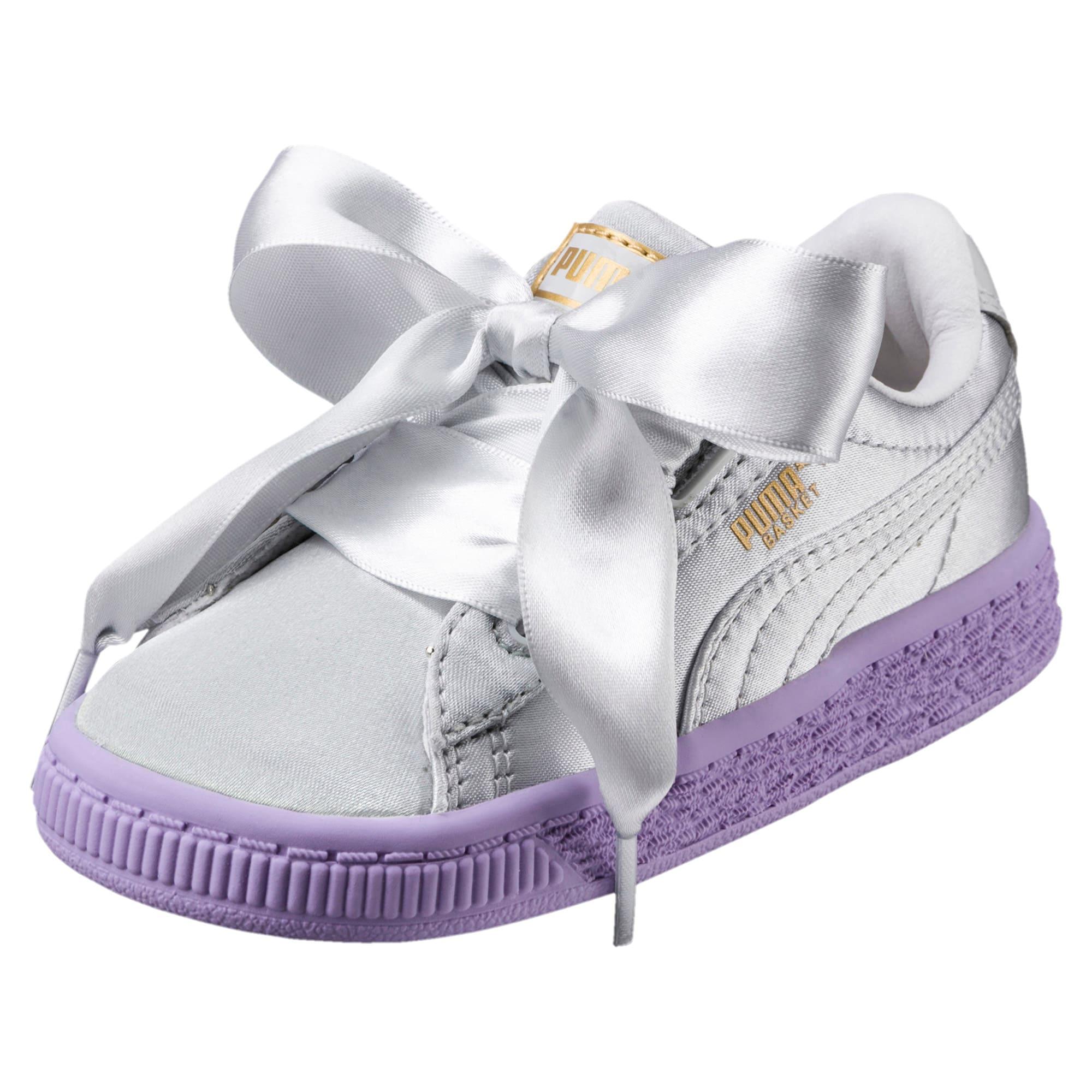 Thumbnail 1 of Basket Heart Toddler Shoes, Glacier Gray-Glacier Gray, medium