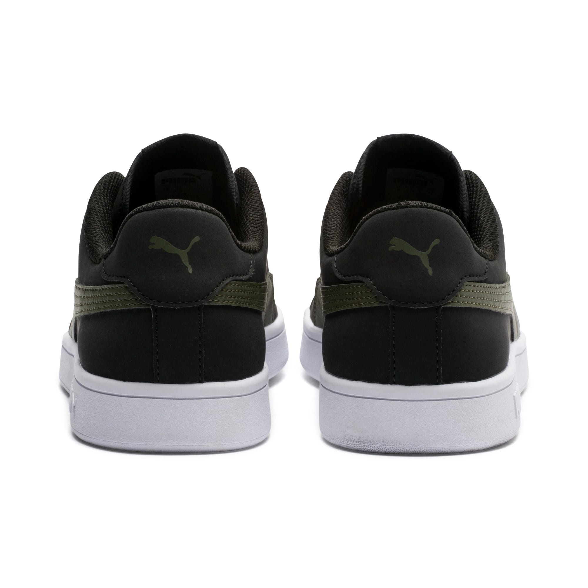 Thumbnail 3 of Smash v2 Buck Sneaker, Puma Black-Forest Night, medium