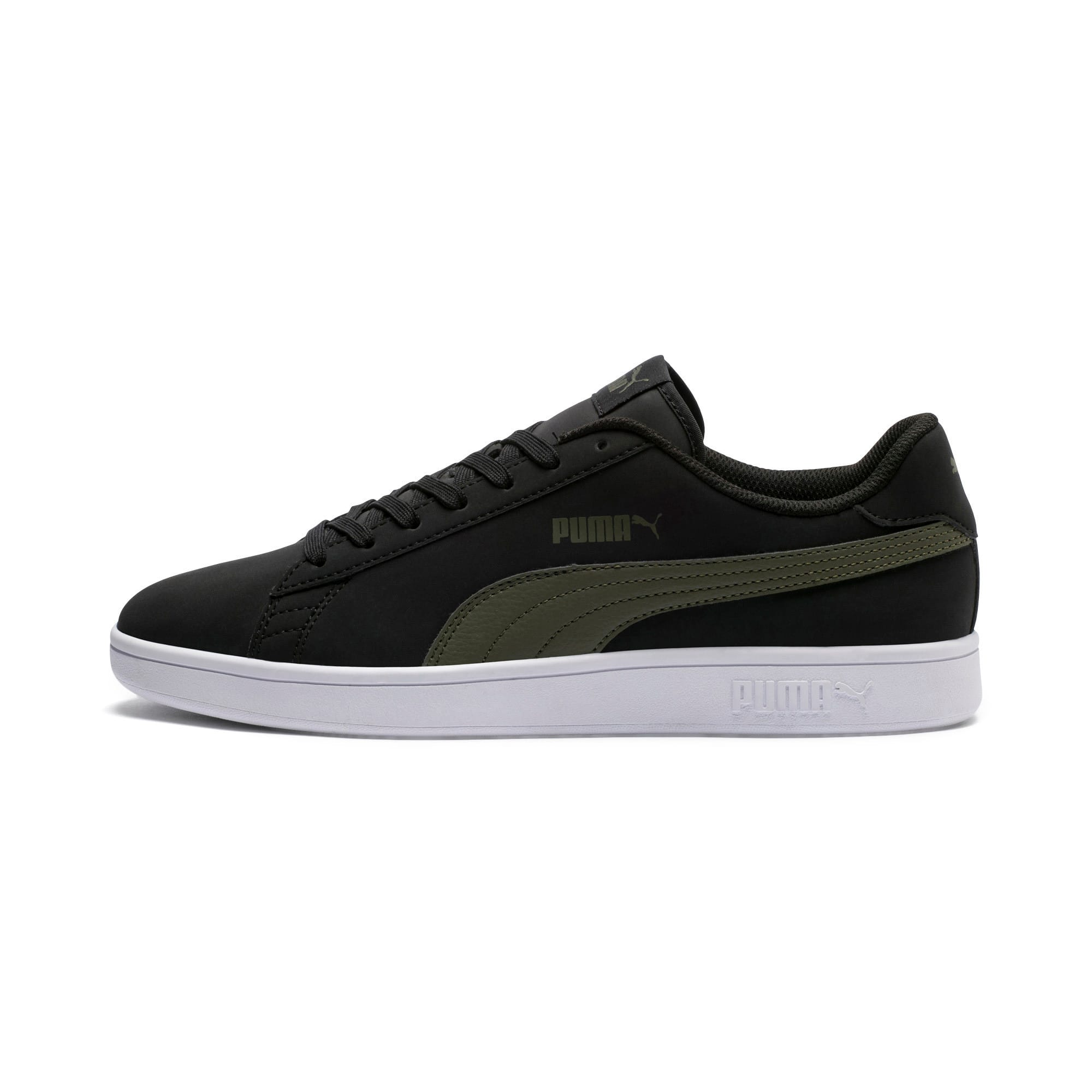 Thumbnail 1 of Smash v2 Buck Sneaker, Puma Black-Forest Night, medium