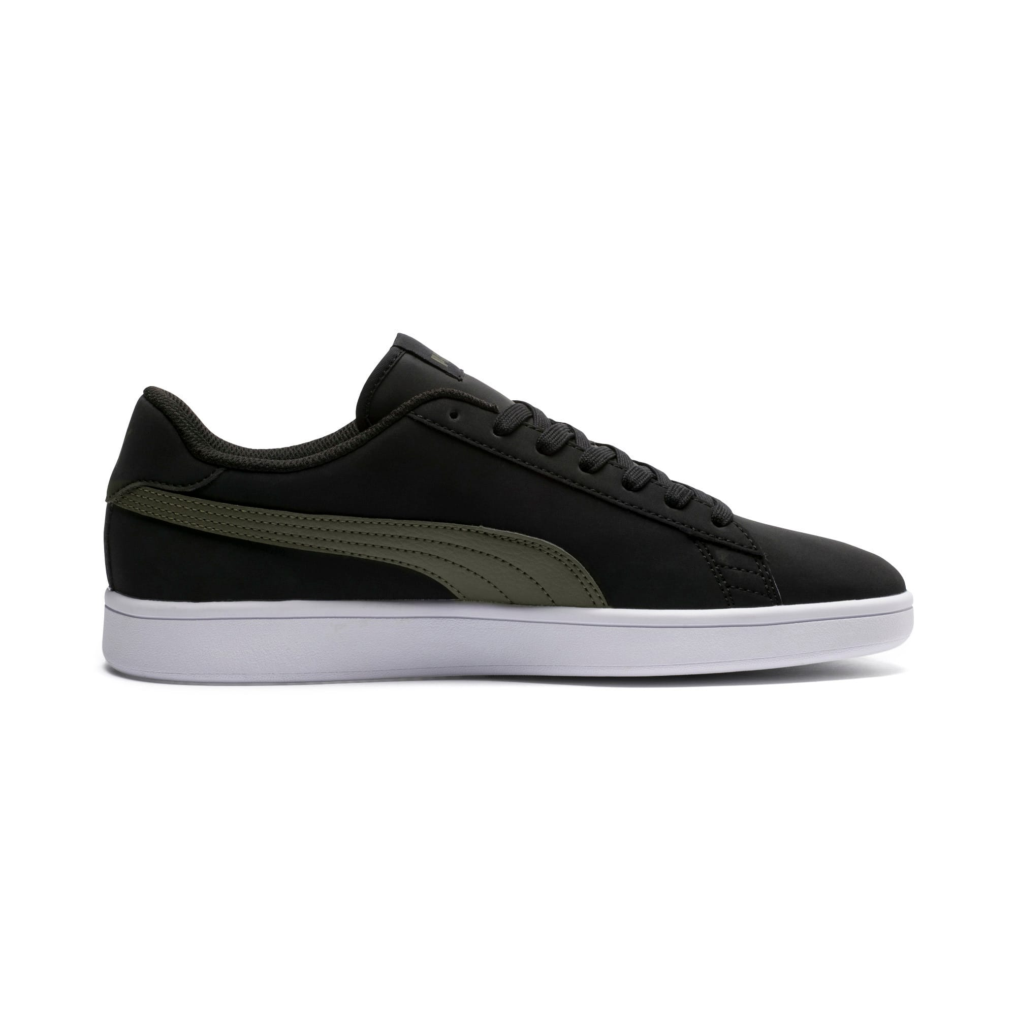 Thumbnail 5 of Smash v2 Buck Sneaker, Puma Black-Forest Night, medium