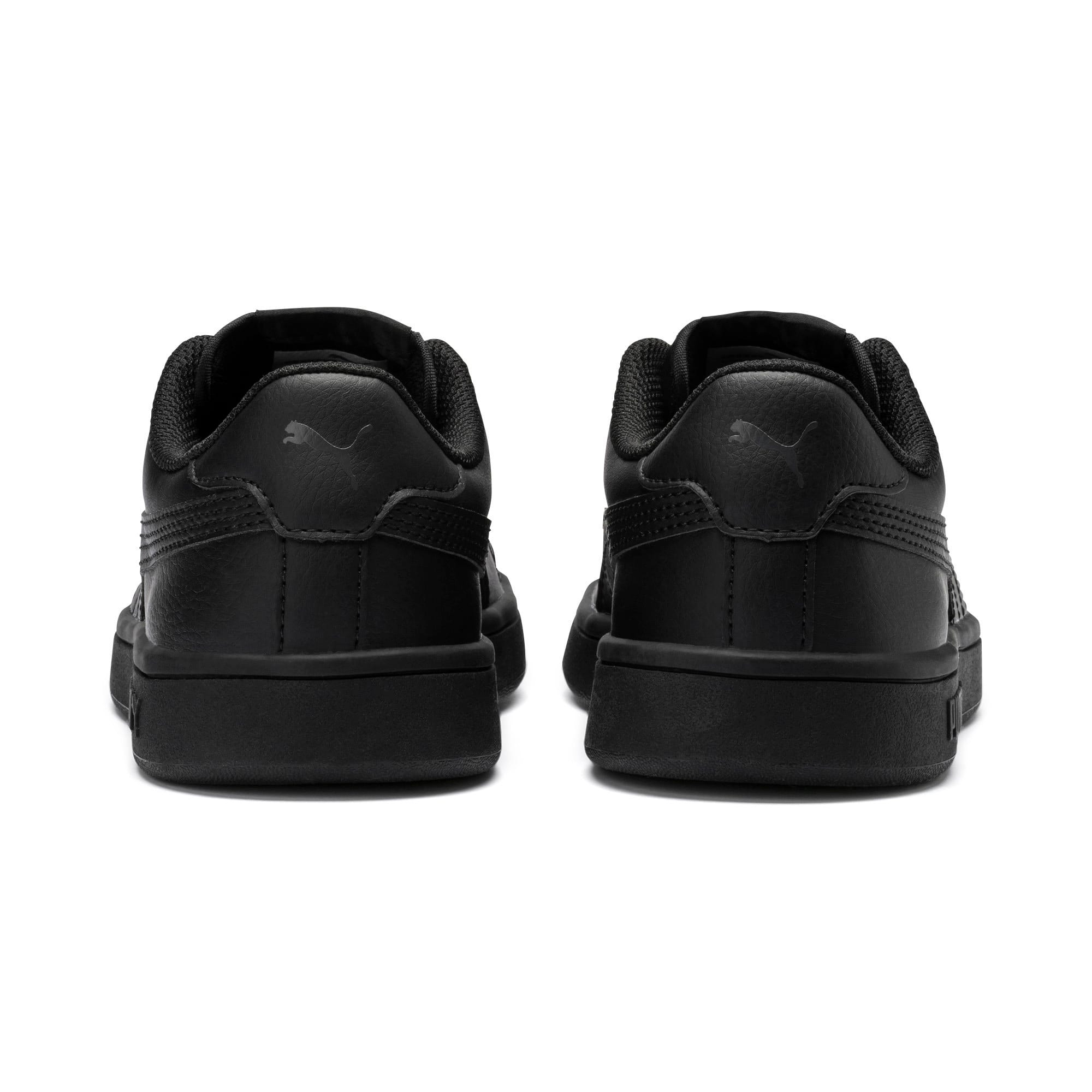 Thumbnail 3 of PUMA Smash v2 Leather Sneakers JR, Puma Black-Puma Black, medium