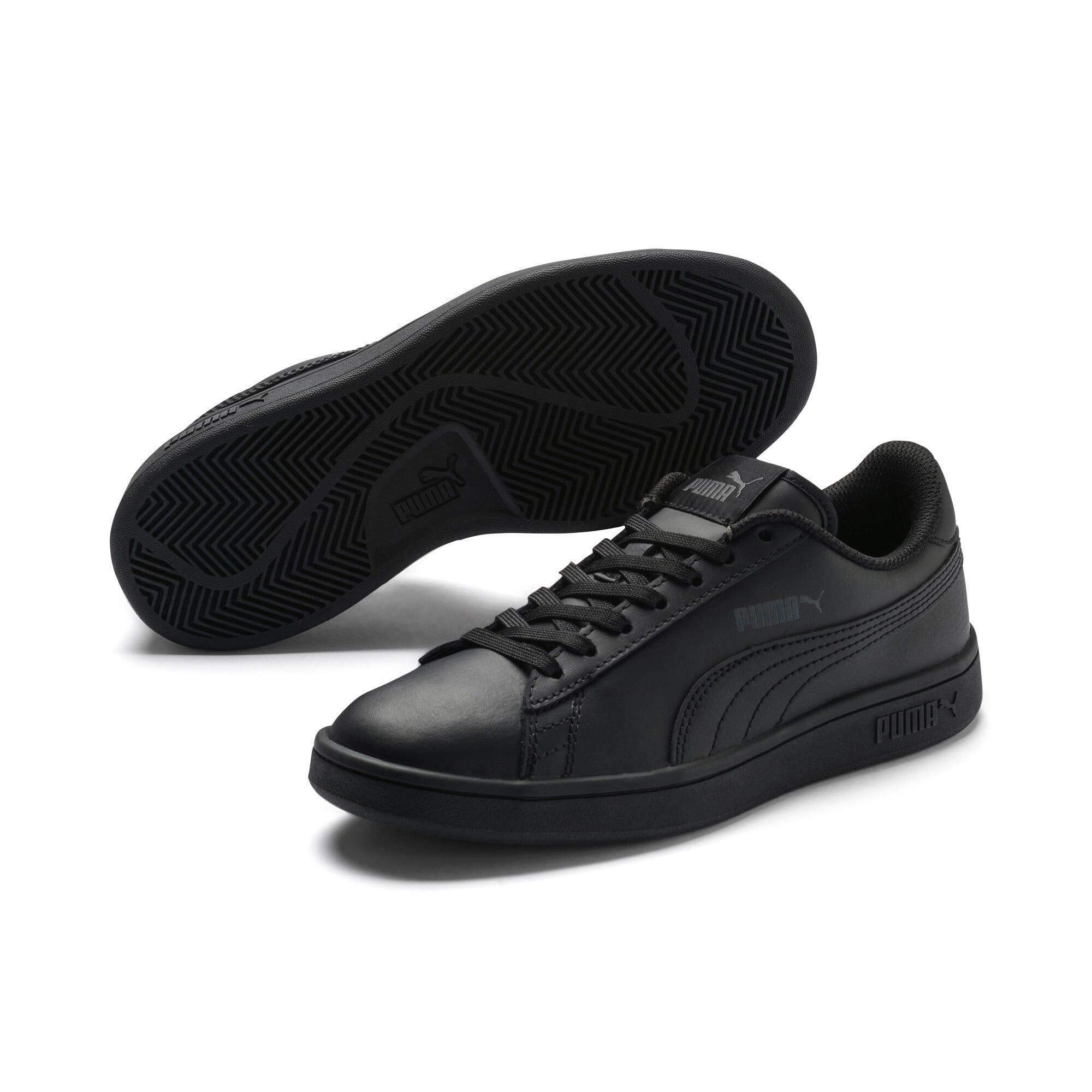 Thumbnail 2 of PUMA Smash v2 Leather Sneakers JR, Puma Black-Puma Black, medium
