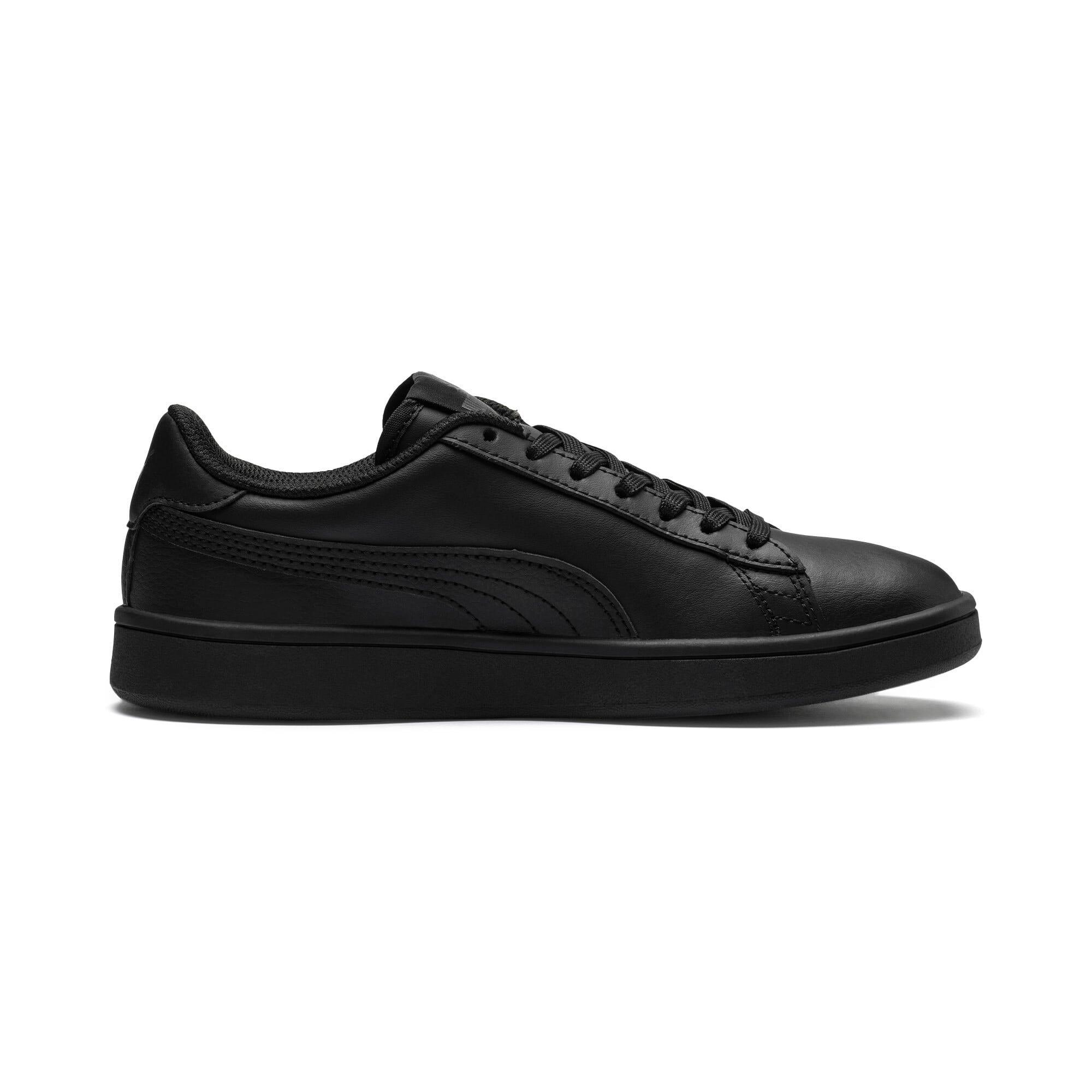 Thumbnail 5 of PUMA Smash v2 Leather Sneakers JR, Puma Black-Puma Black, medium