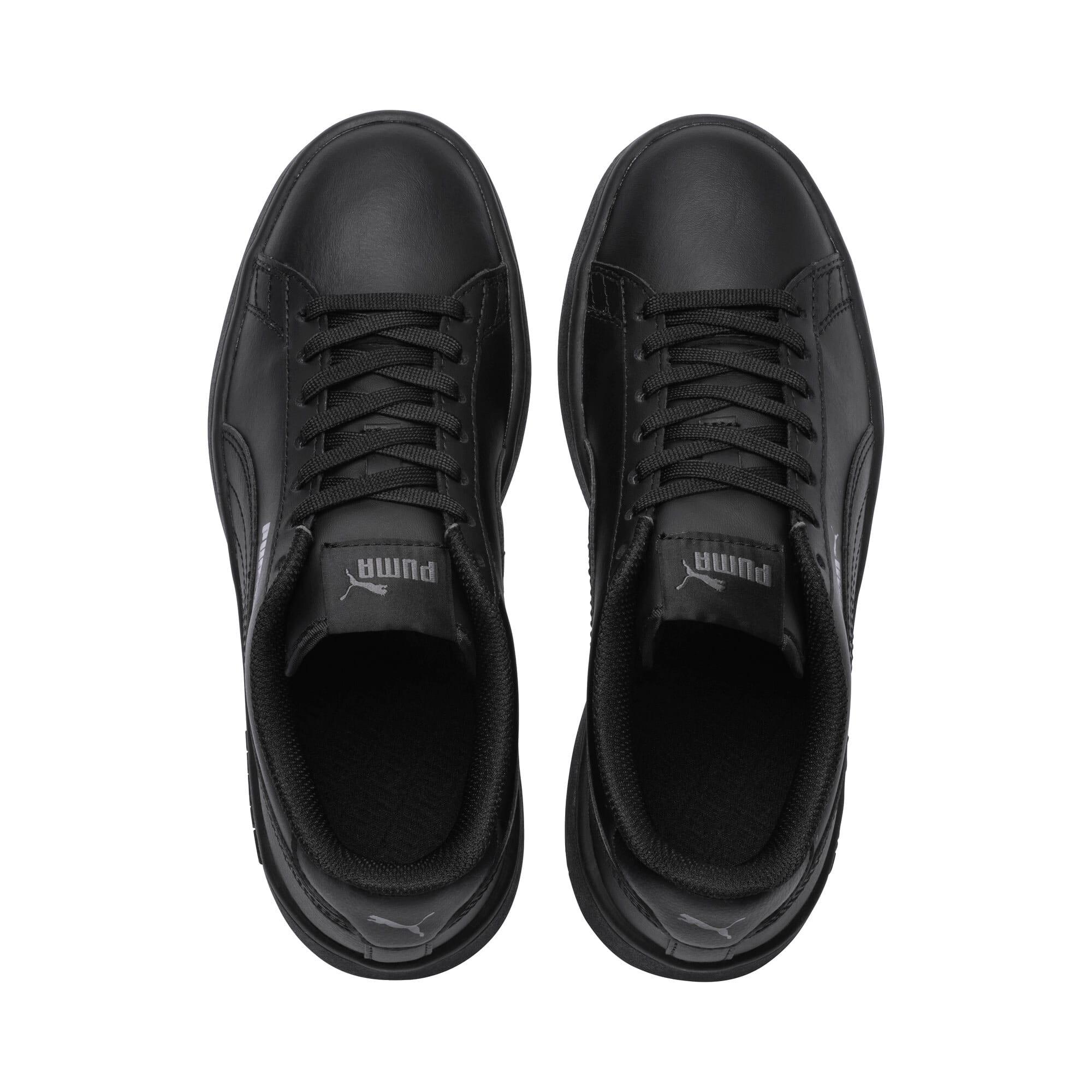 Thumbnail 6 of PUMA Smash v2 Youth Sneaker, Puma Black-Puma Black, medium