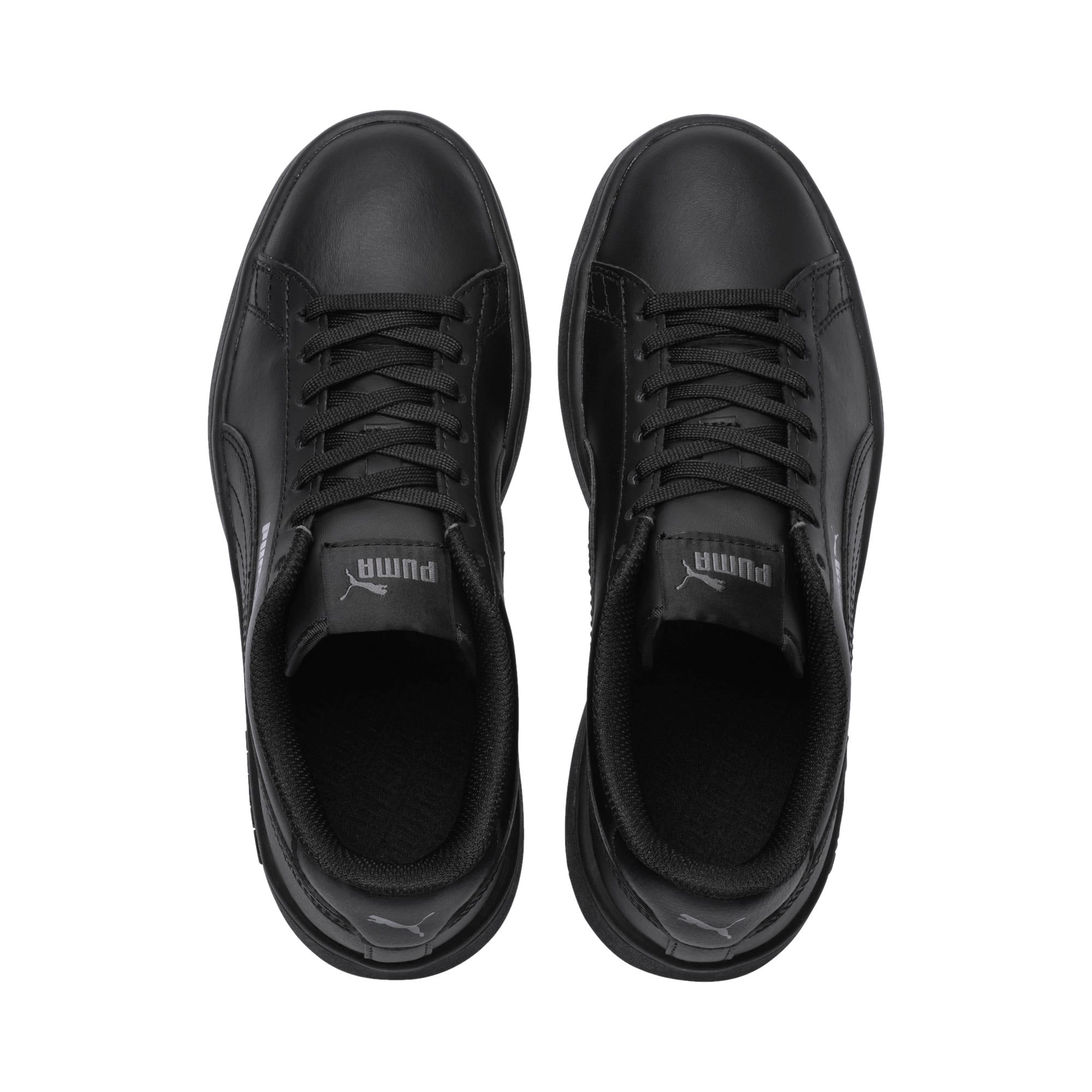 Thumbnail 6 of PUMA Smash v2 Leather Sneakers JR, Puma Black-Puma Black, medium