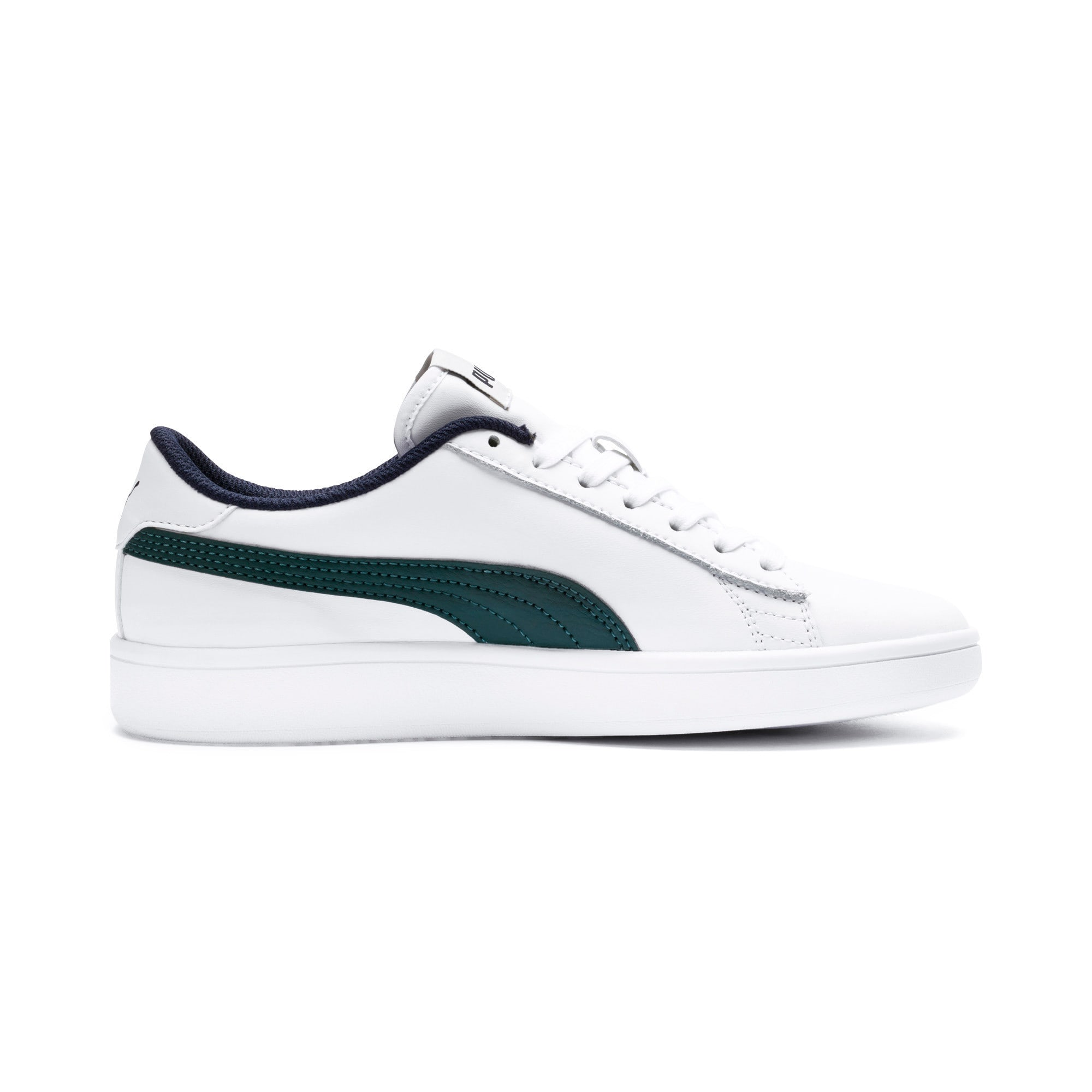 Thumbnail 5 of PUMA Smash v2 Youth Sneaker, Puma White-Ponderosa Pine, medium