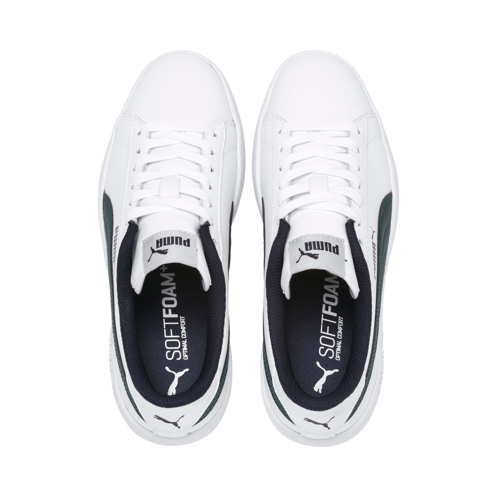 Thumbnail 6 of PUMA Smash v2 Youth Sneaker, Puma White-Ponderosa Pine, medium