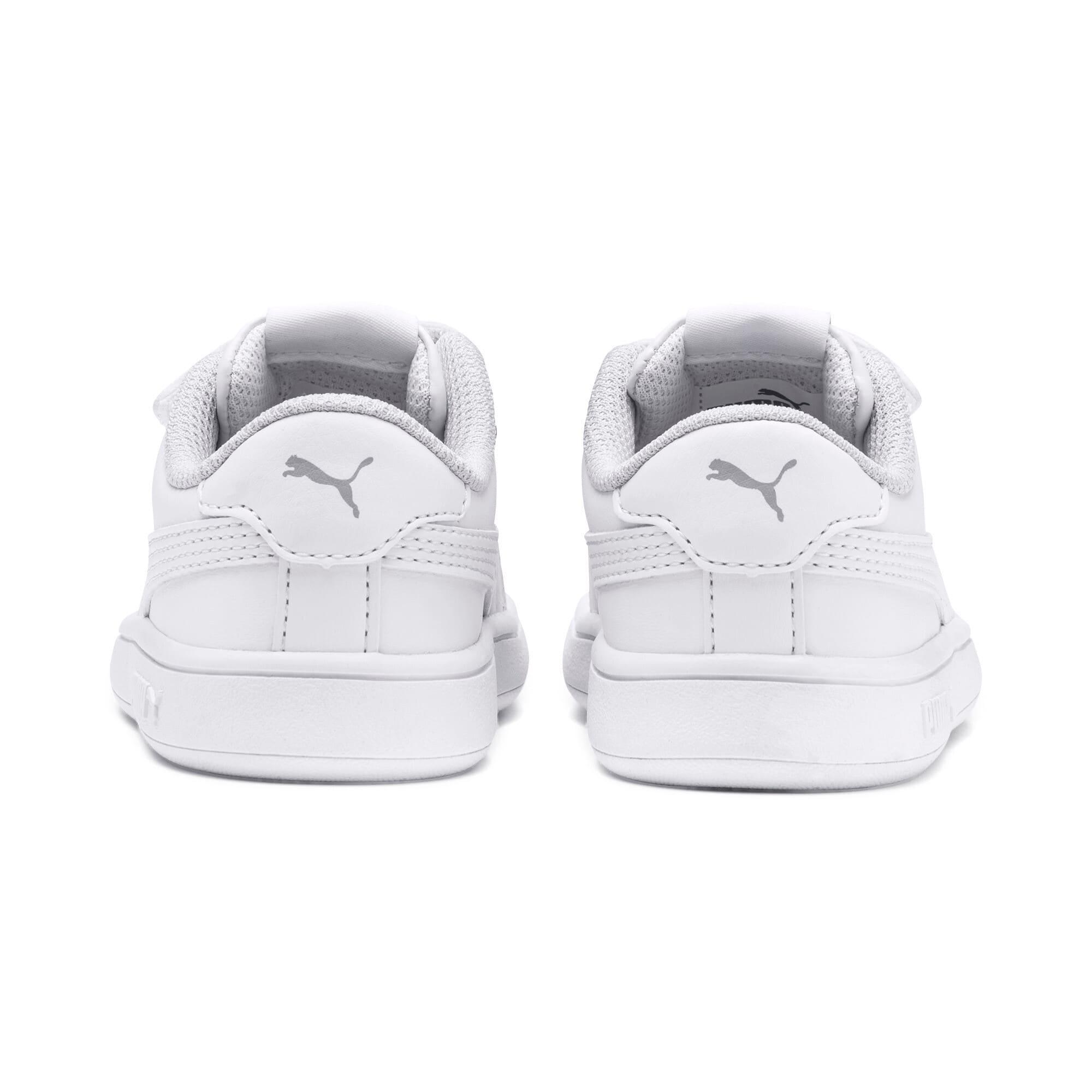Thumbnail 3 of Puma Smash v2 L V Toddler Shoes, Puma White-Puma White, medium