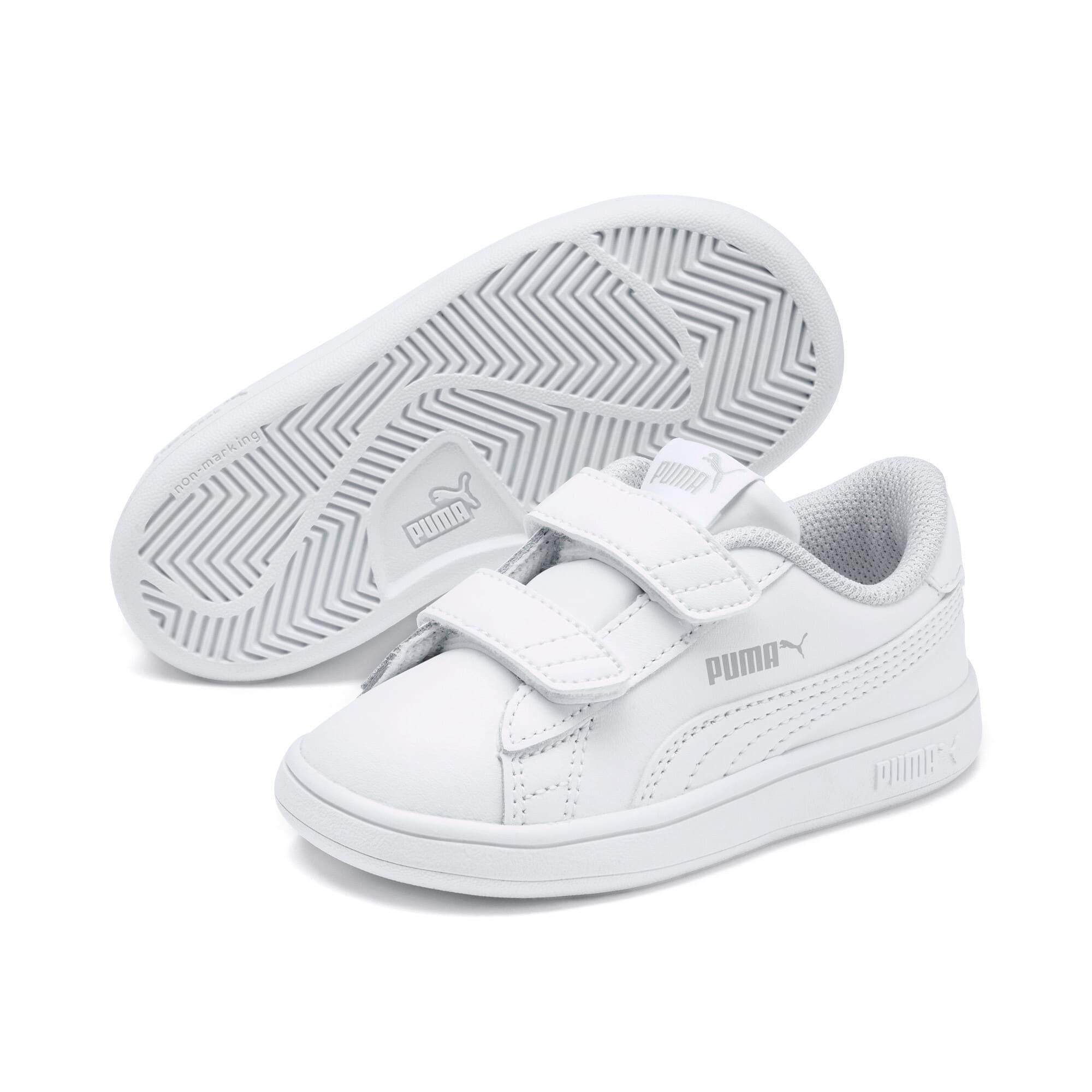 Thumbnail 2 of Puma Smash v2 L V Toddler Shoes, Puma White-Puma White, medium