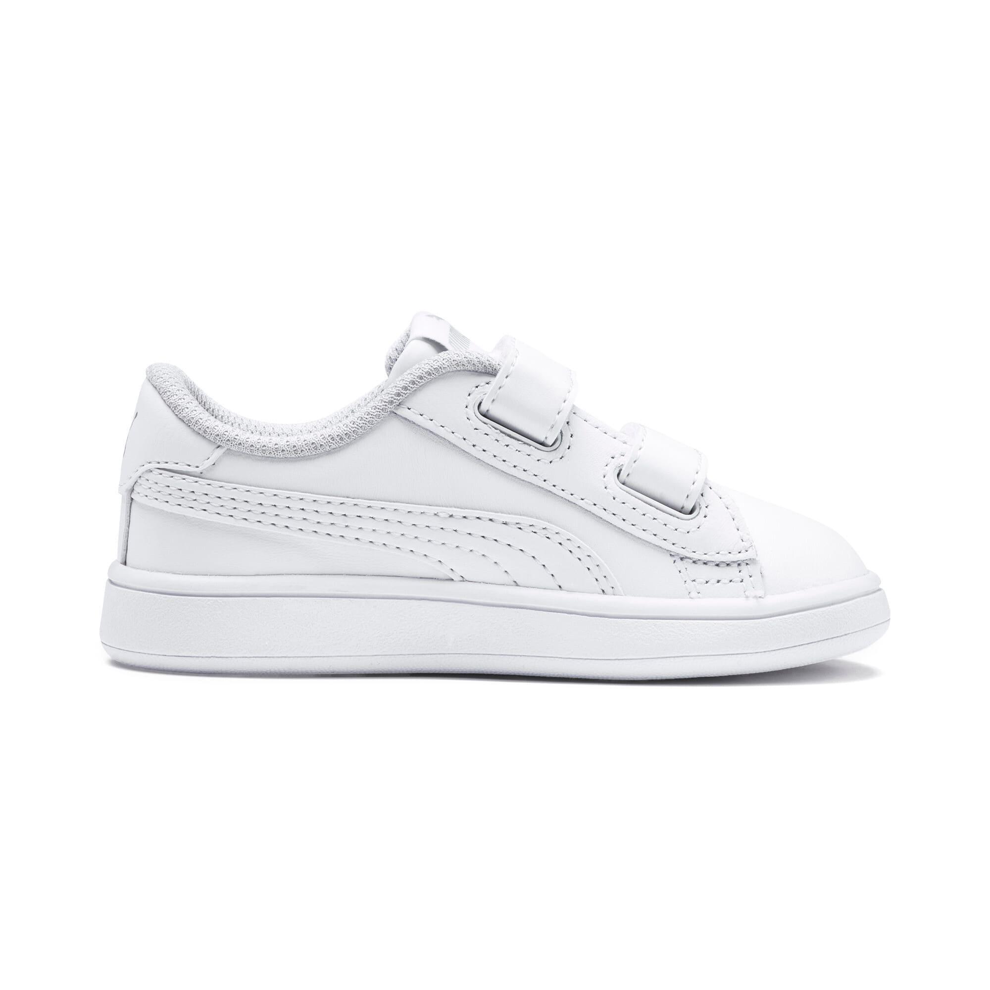 Thumbnail 5 of Puma Smash v2 L V Toddler Shoes, Puma White-Puma White, medium