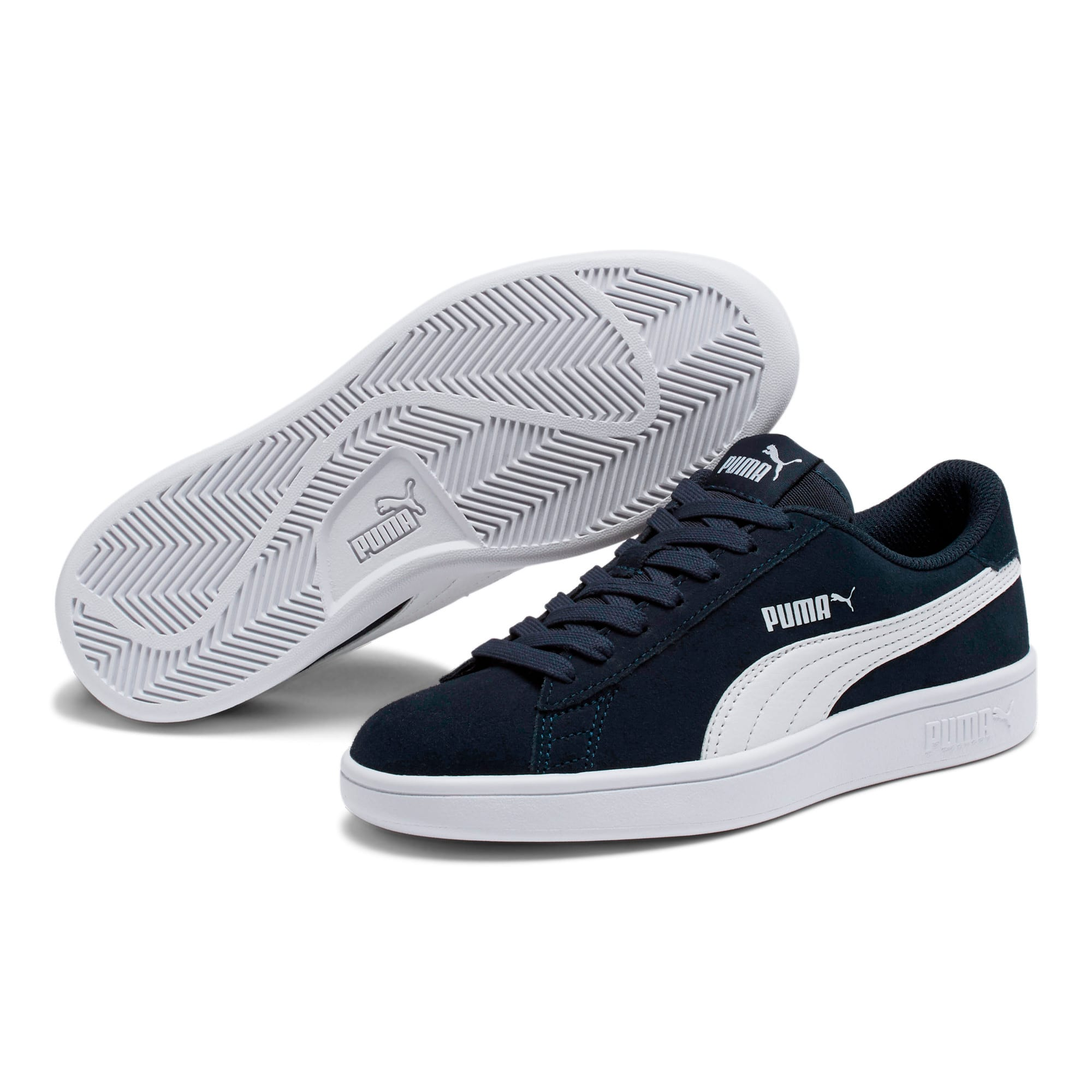 Thumbnail 2 of Smash v2 Suede Sneakers JR, Peacoat-Puma White, medium