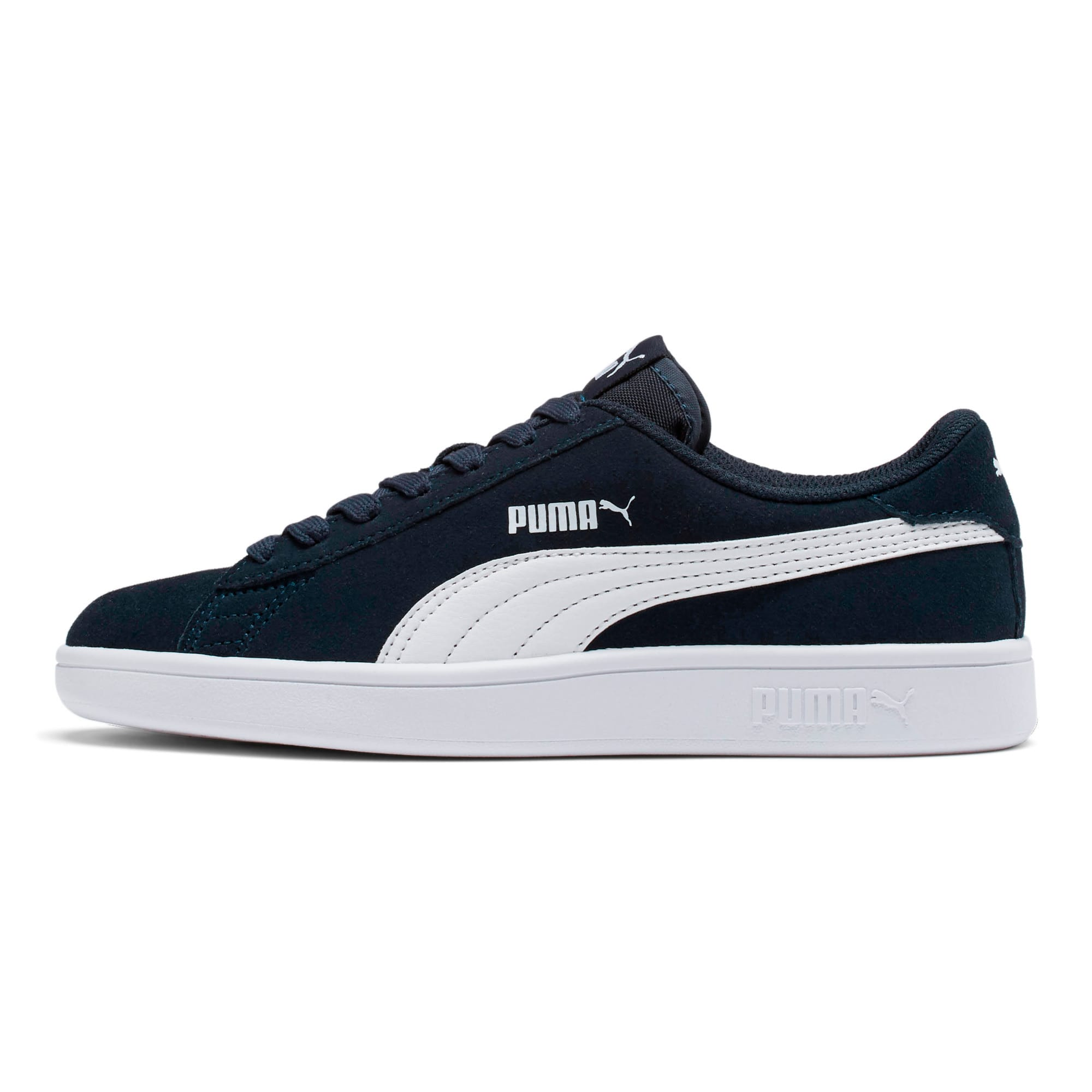 Thumbnail 1 of Smash v2 Suede Sneakers JR, Peacoat-Puma White, medium