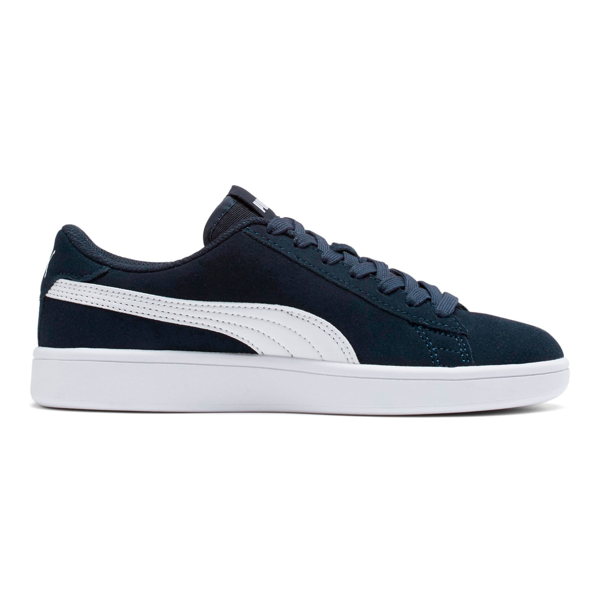 Thumbnail 5 of Smash v2 Suede Sneakers JR, Peacoat-Puma White, medium