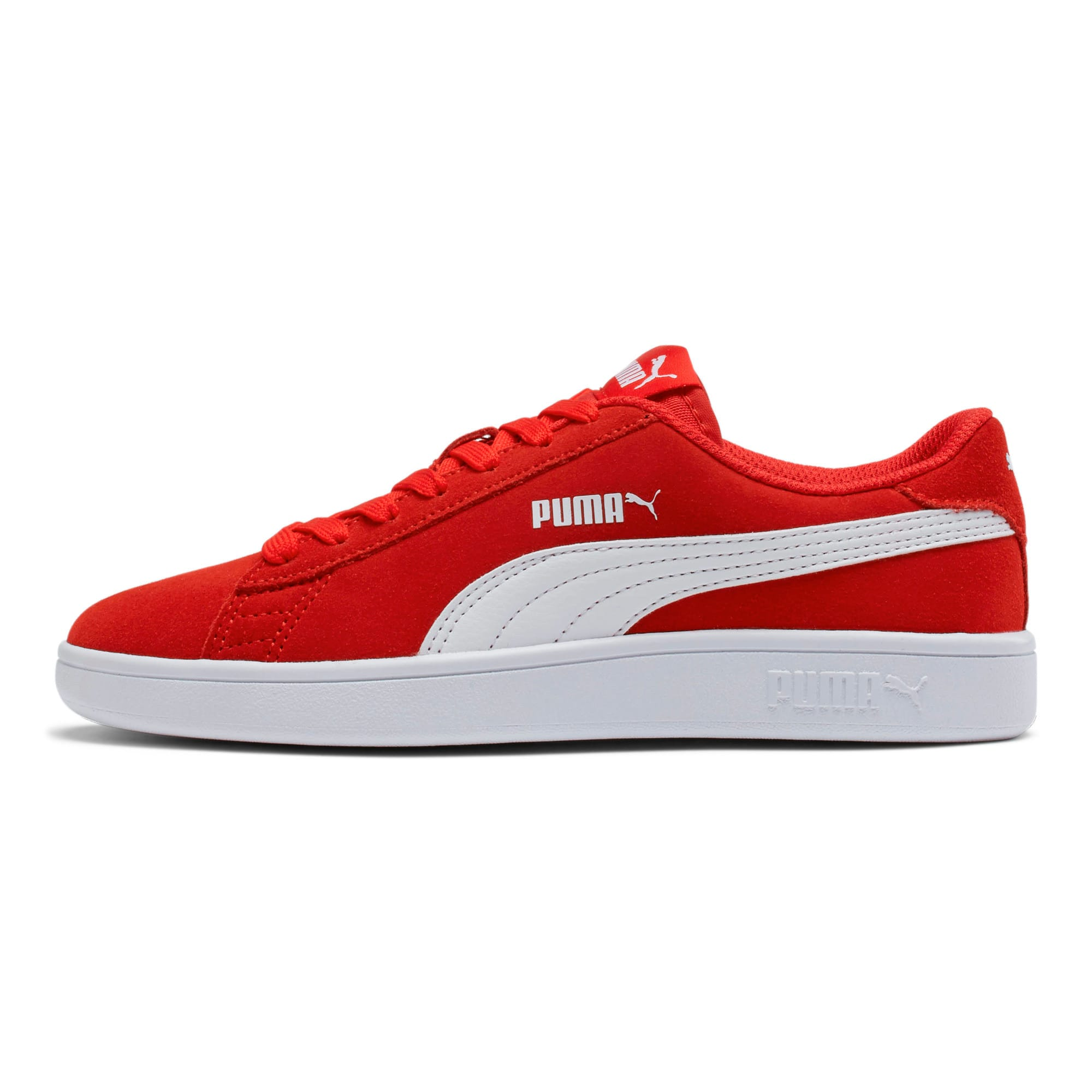 Thumbnail 1 of Smash v2 Suede Sneakers JR, High Risk Red-Puma White, medium