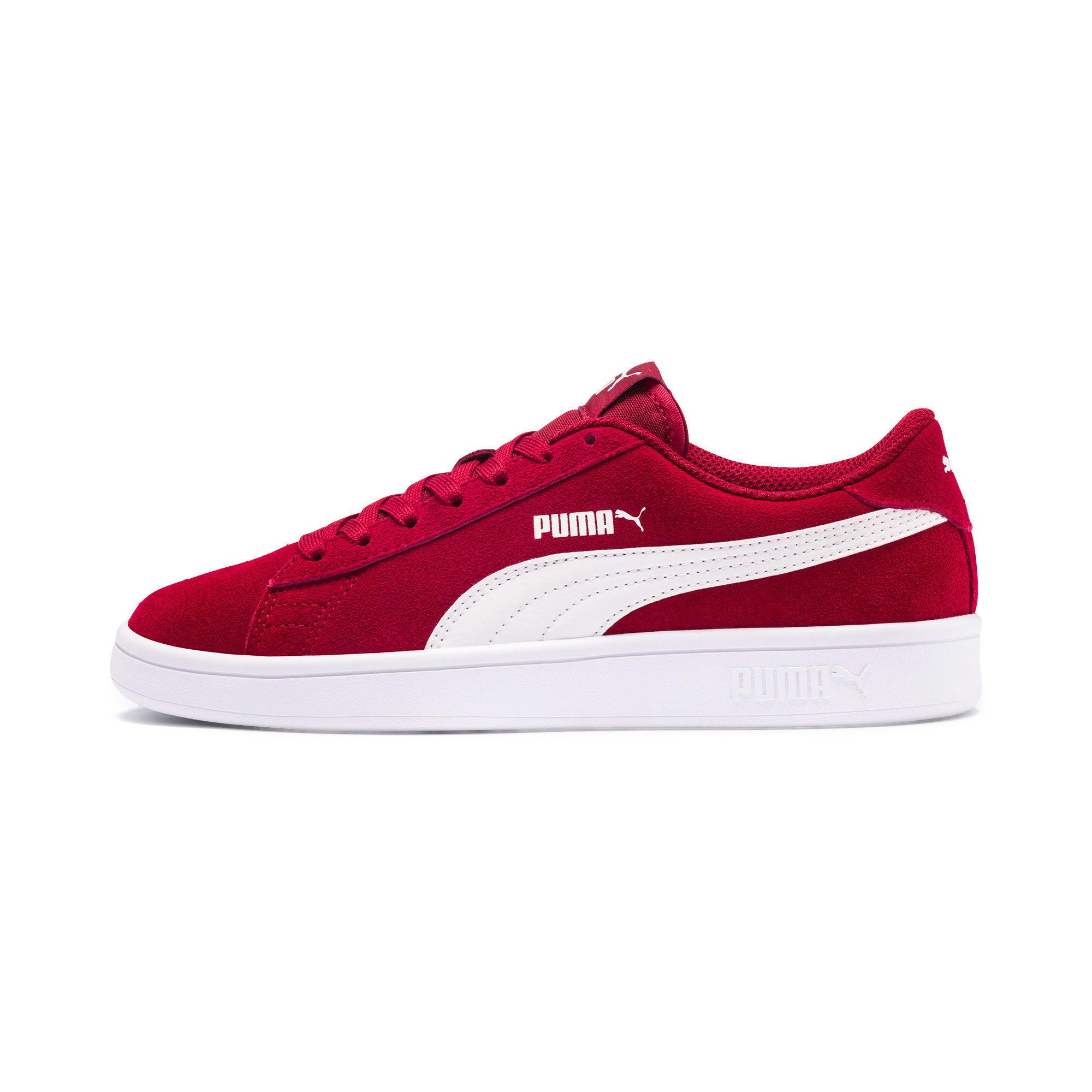 Thumbnail 1 of Smash v2 Suede Sneakers JR, Rhubarb-Puma White, medium