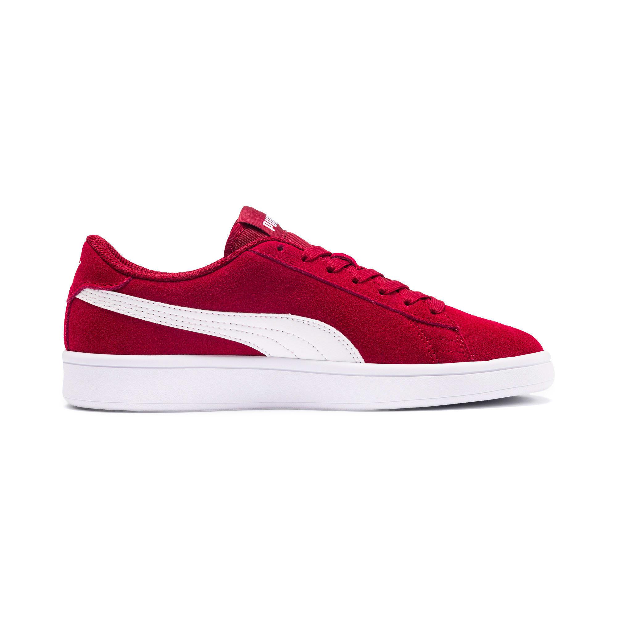 Thumbnail 5 of Smash v2 Suede Sneakers JR, Rhubarb-Puma White, medium