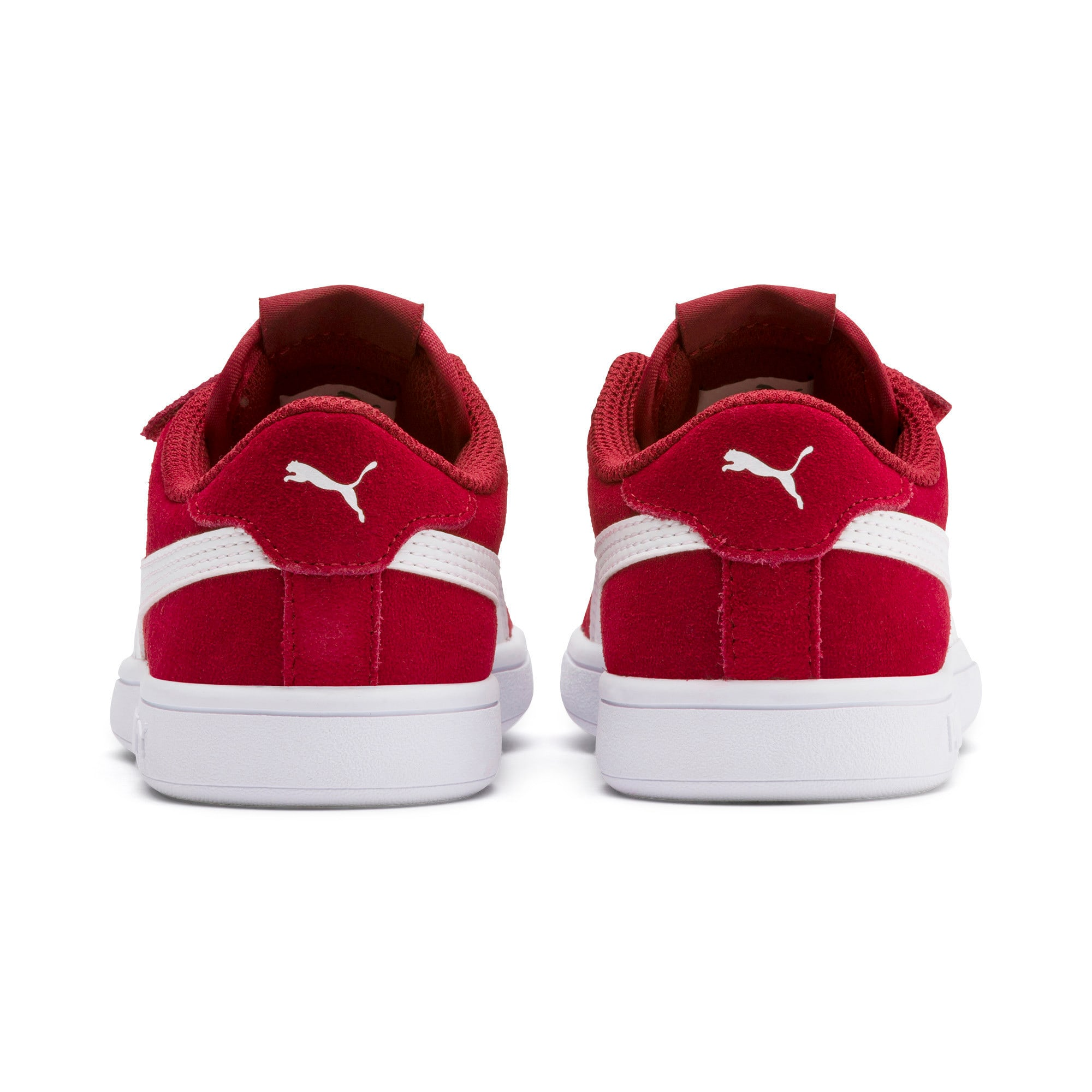 Thumbnail 3 of Smash v2 Suede Little Kids' Shoes, Rhubarb-Puma White, medium