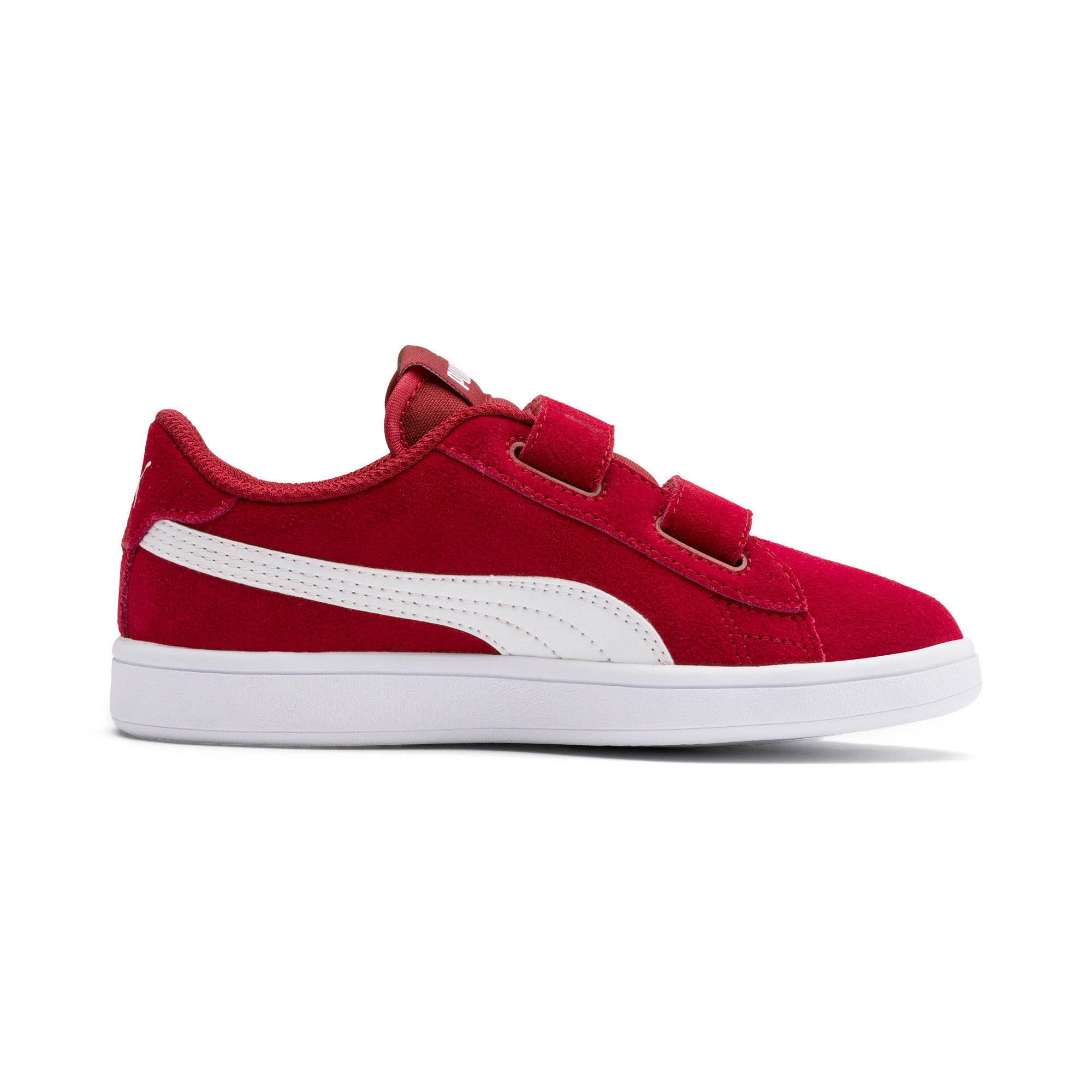Thumbnail 5 of Smash v2 Suede Little Kids' Shoes, Rhubarb-Puma White, medium