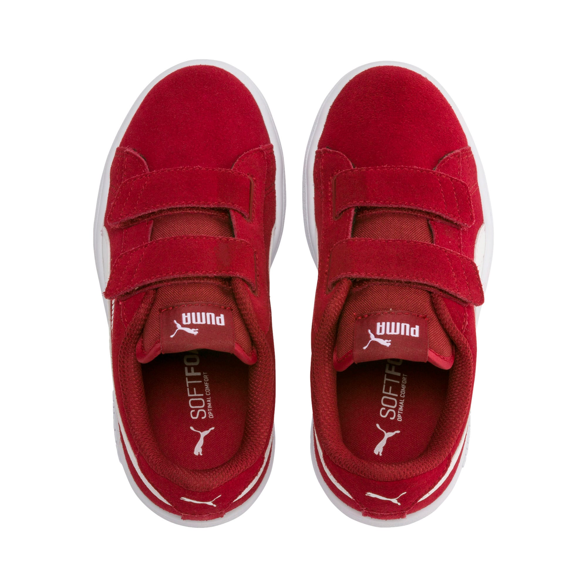 Thumbnail 6 of Smash v2 Suede Little Kids' Shoes, Rhubarb-Puma White, medium