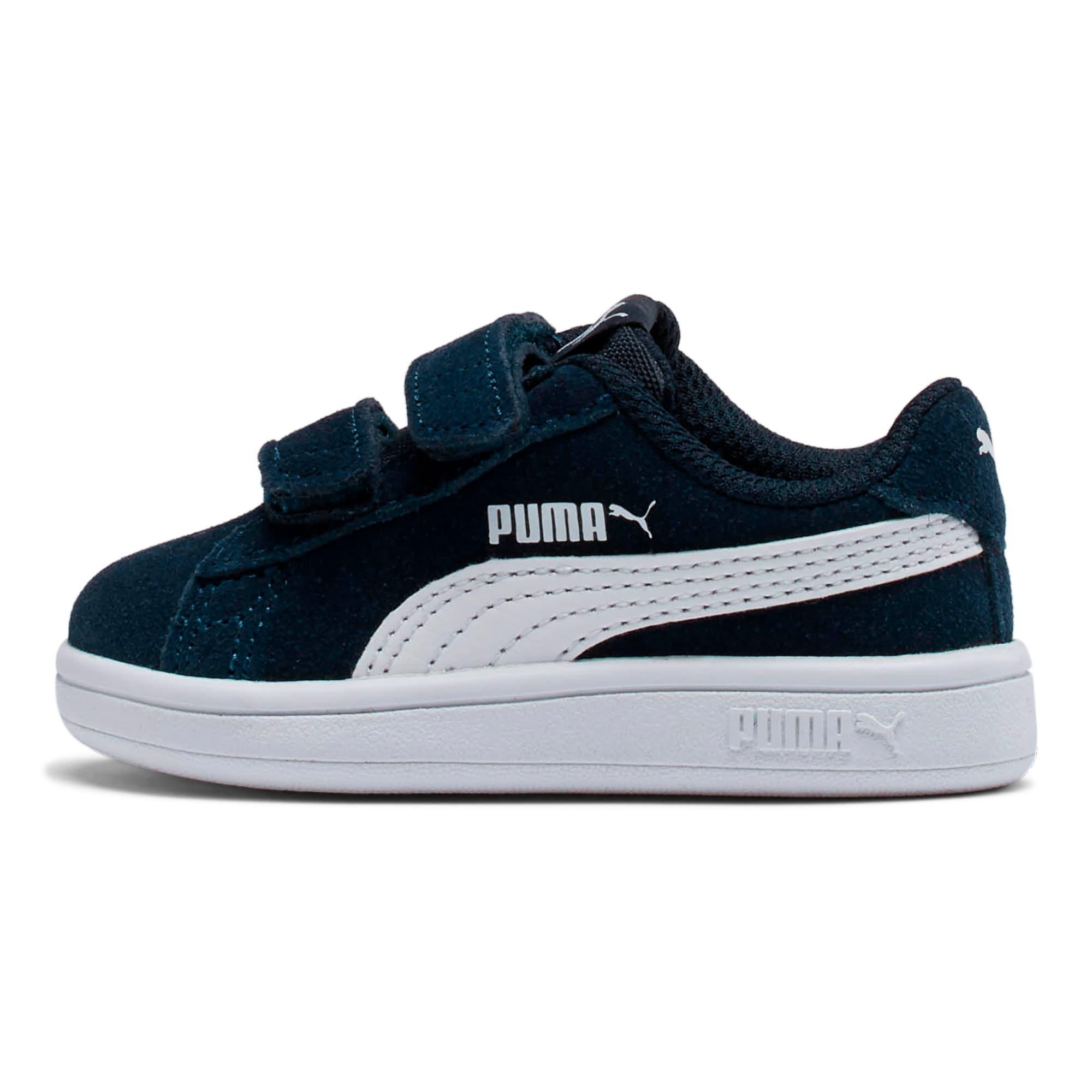 Miniatura 1 de ZapatosPUMA Smash v2Suede para bebés, Peacoat-Puma White, mediano