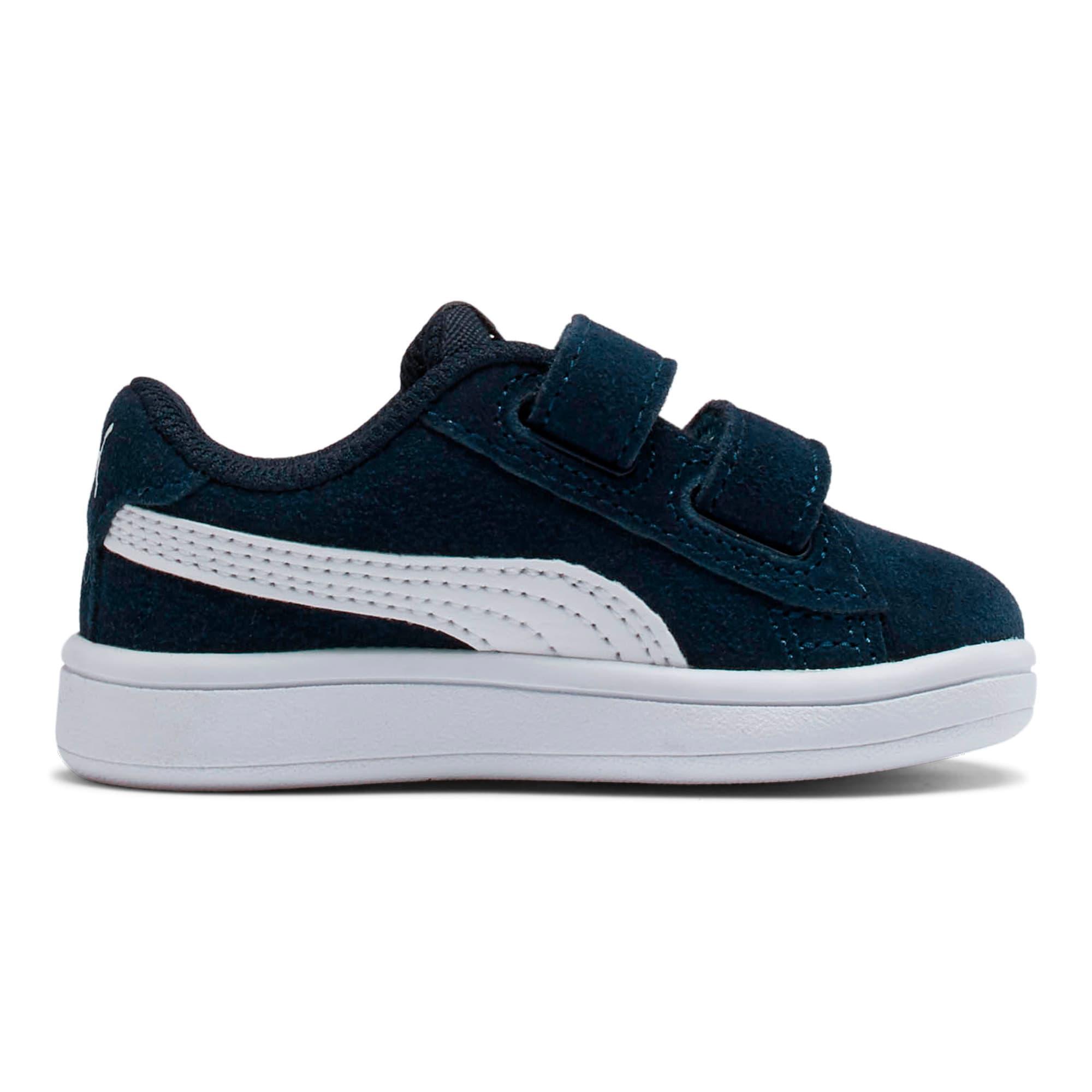 Miniatura 5 de ZapatosPUMA Smash v2Suede para bebés, Peacoat-Puma White, mediano