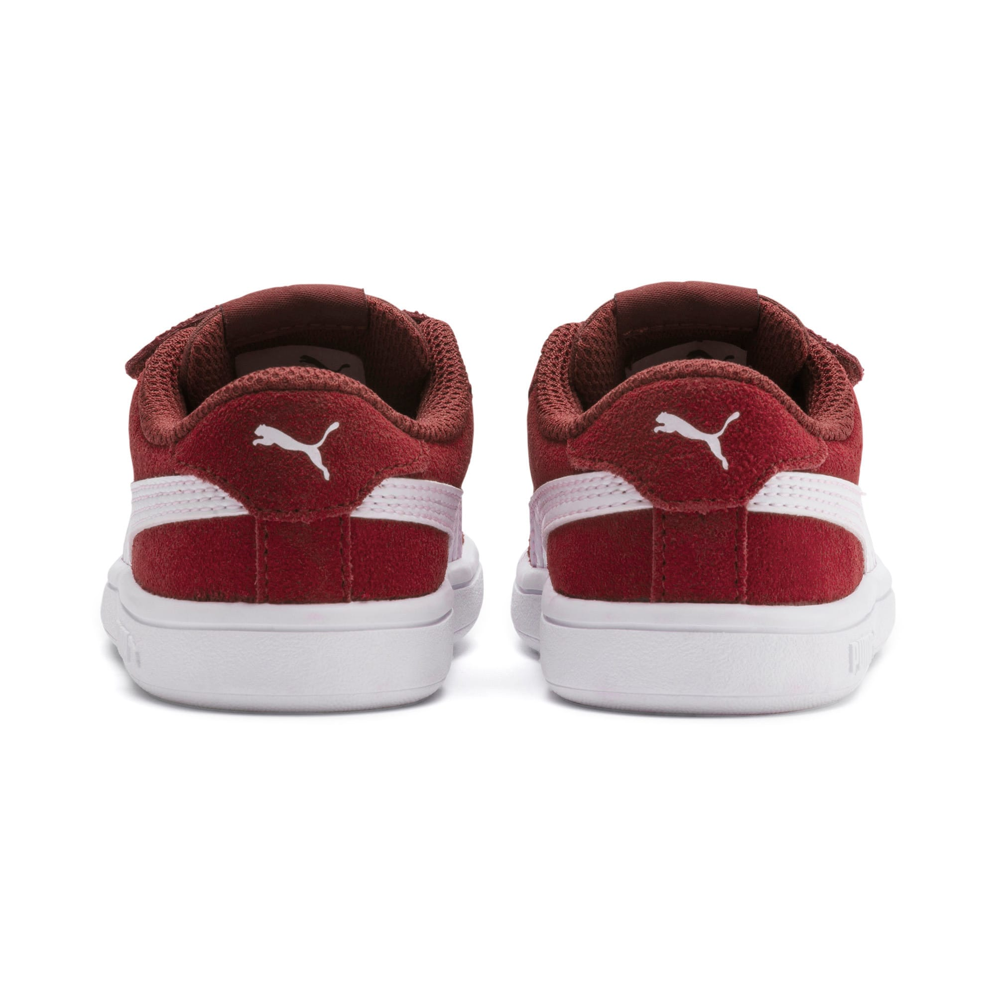 Thumbnail 3 of PUMA Smash v2 Suede Toddler Shoes, Rhubarb-Puma White, medium
