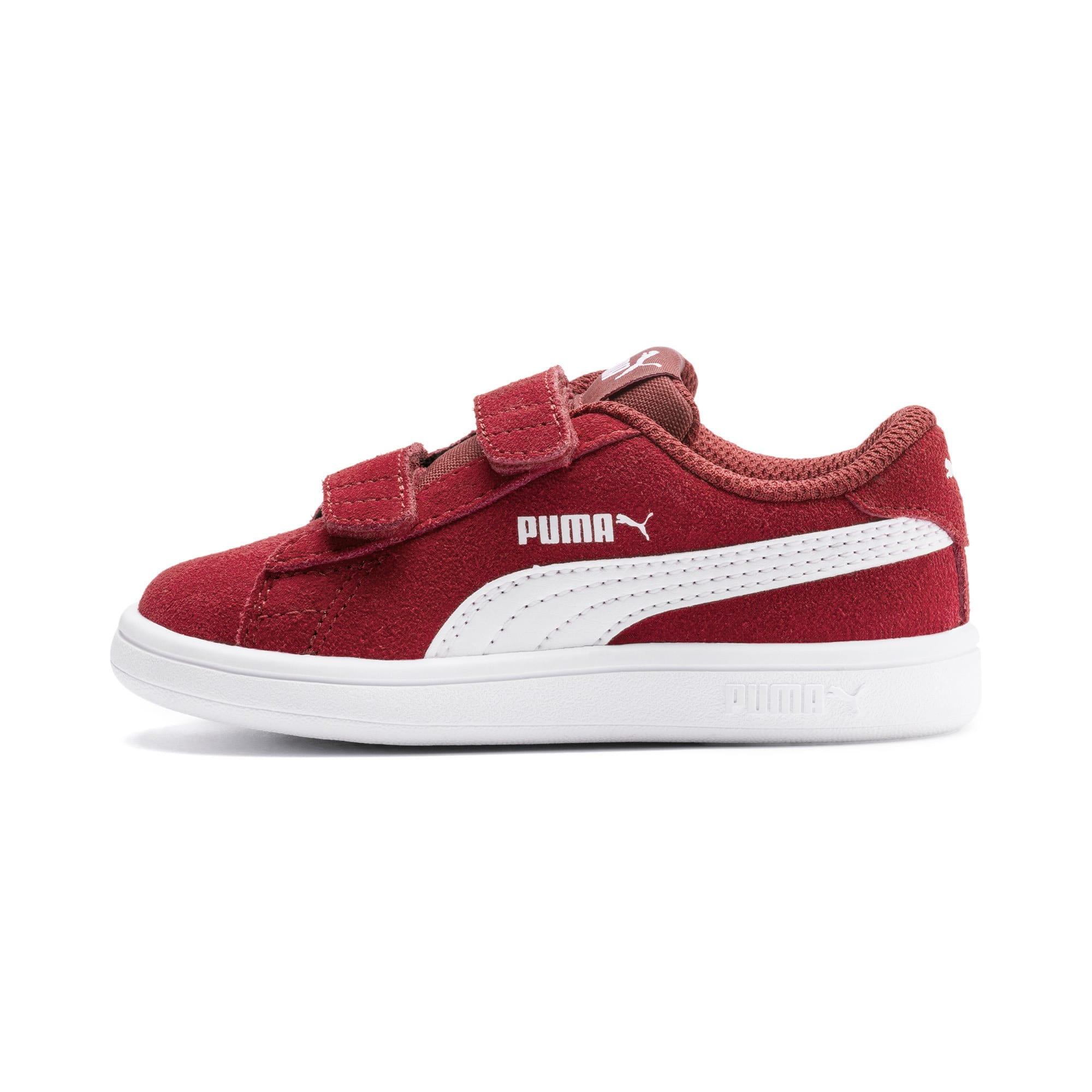 Thumbnail 1 of PUMA Smash v2 Suede Toddler Shoes, Rhubarb-Puma White, medium