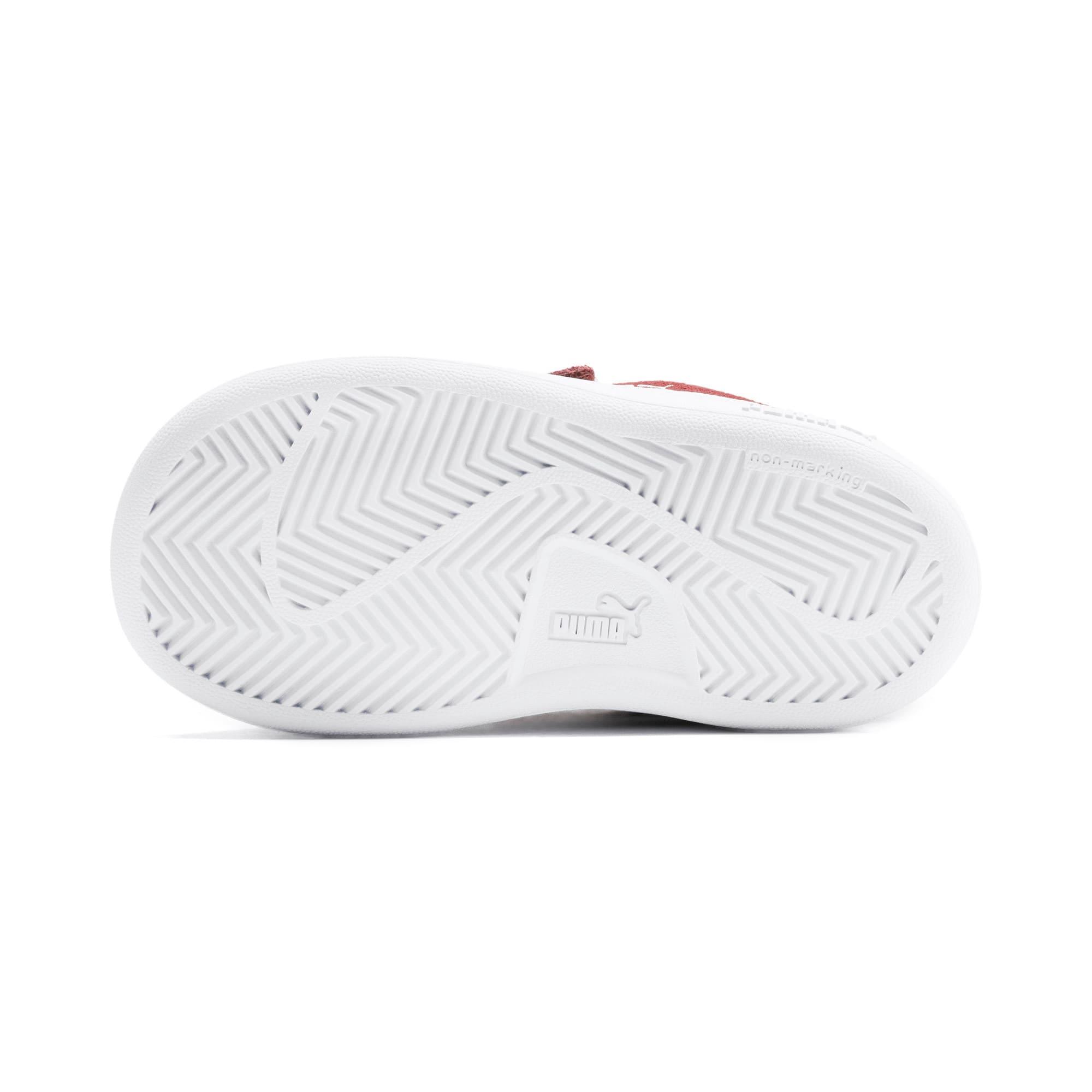 Thumbnail 4 of PUMA Smash v2 Suede Toddler Shoes, Rhubarb-Puma White, medium