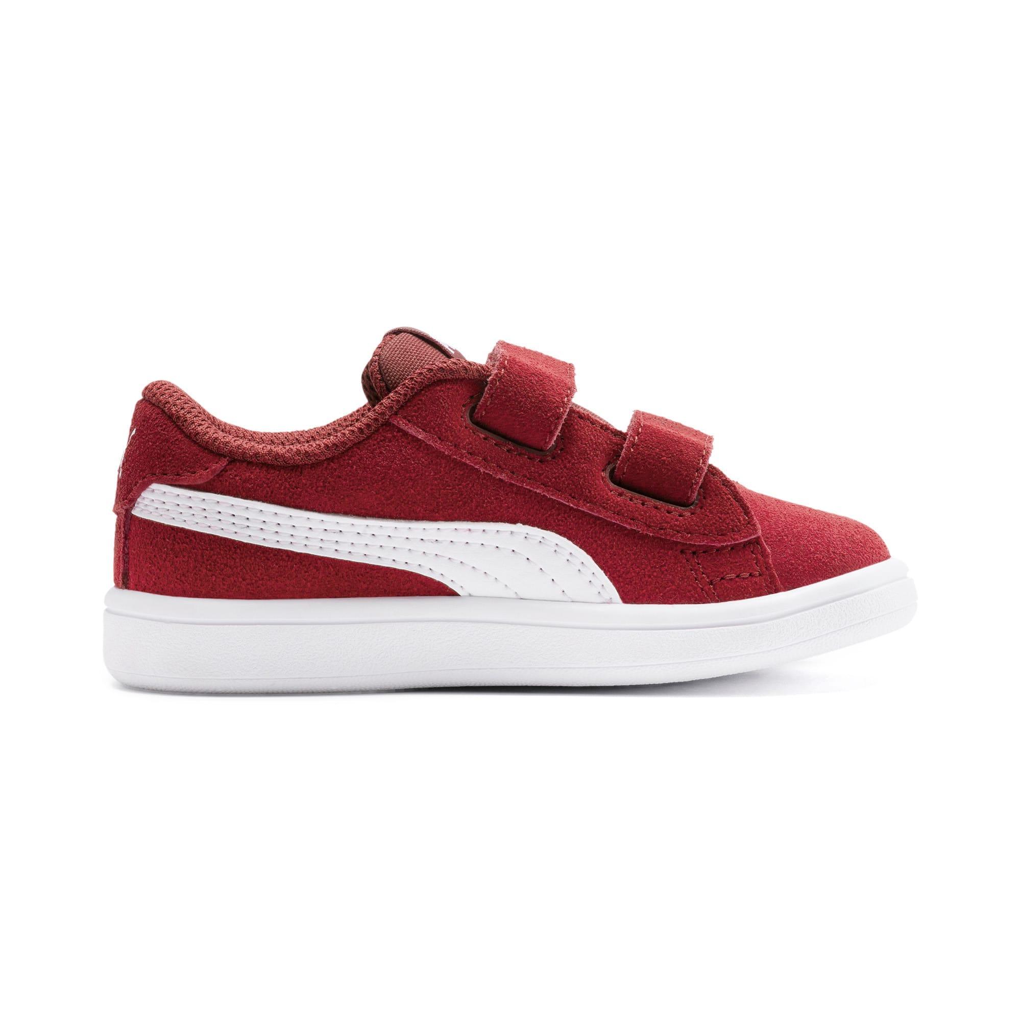 Thumbnail 5 of PUMA Smash v2 Suede Toddler Shoes, Rhubarb-Puma White, medium