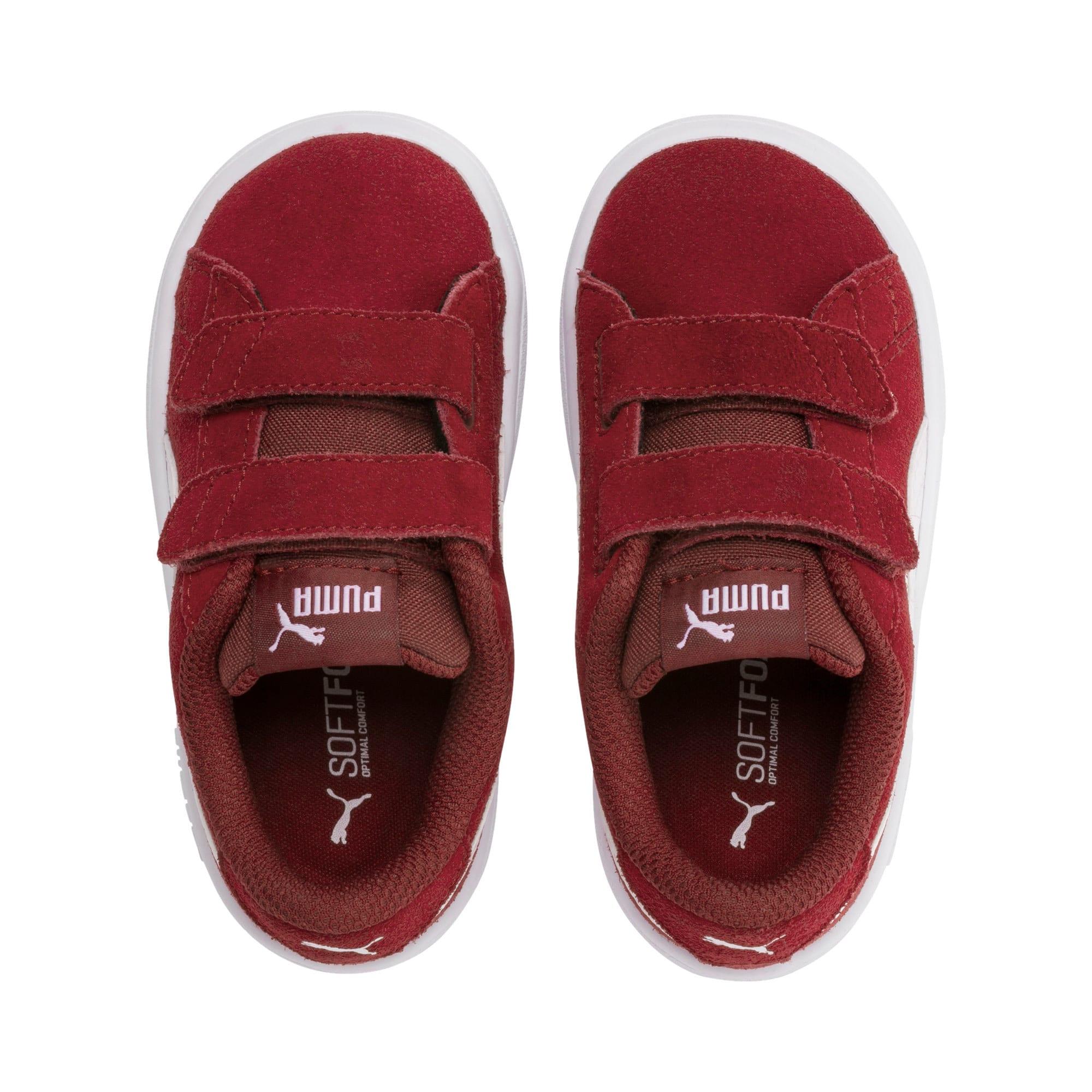 Thumbnail 6 of PUMA Smash v2 Suede Toddler Shoes, Rhubarb-Puma White, medium