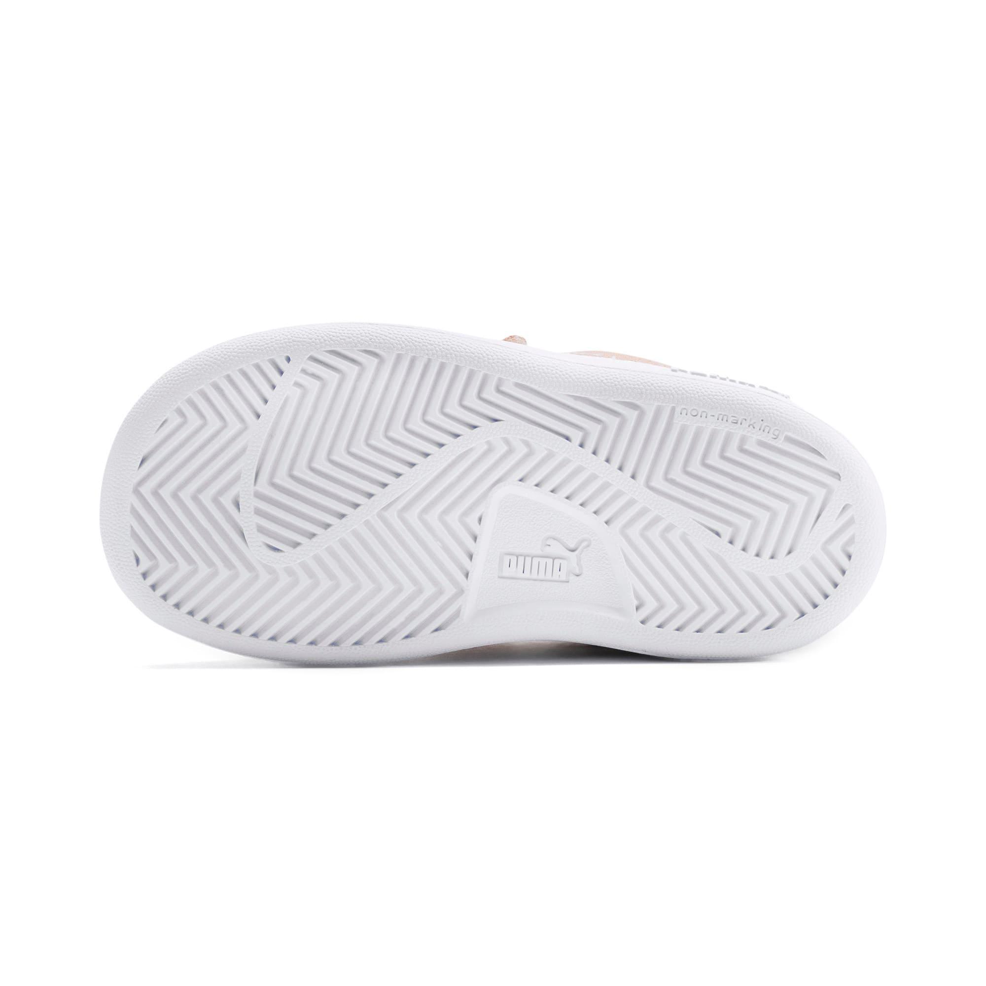 Thumbnail 4 of PUMA Smash v2 Suede Toddler Shoes, Peach Parfait-Puma White, medium