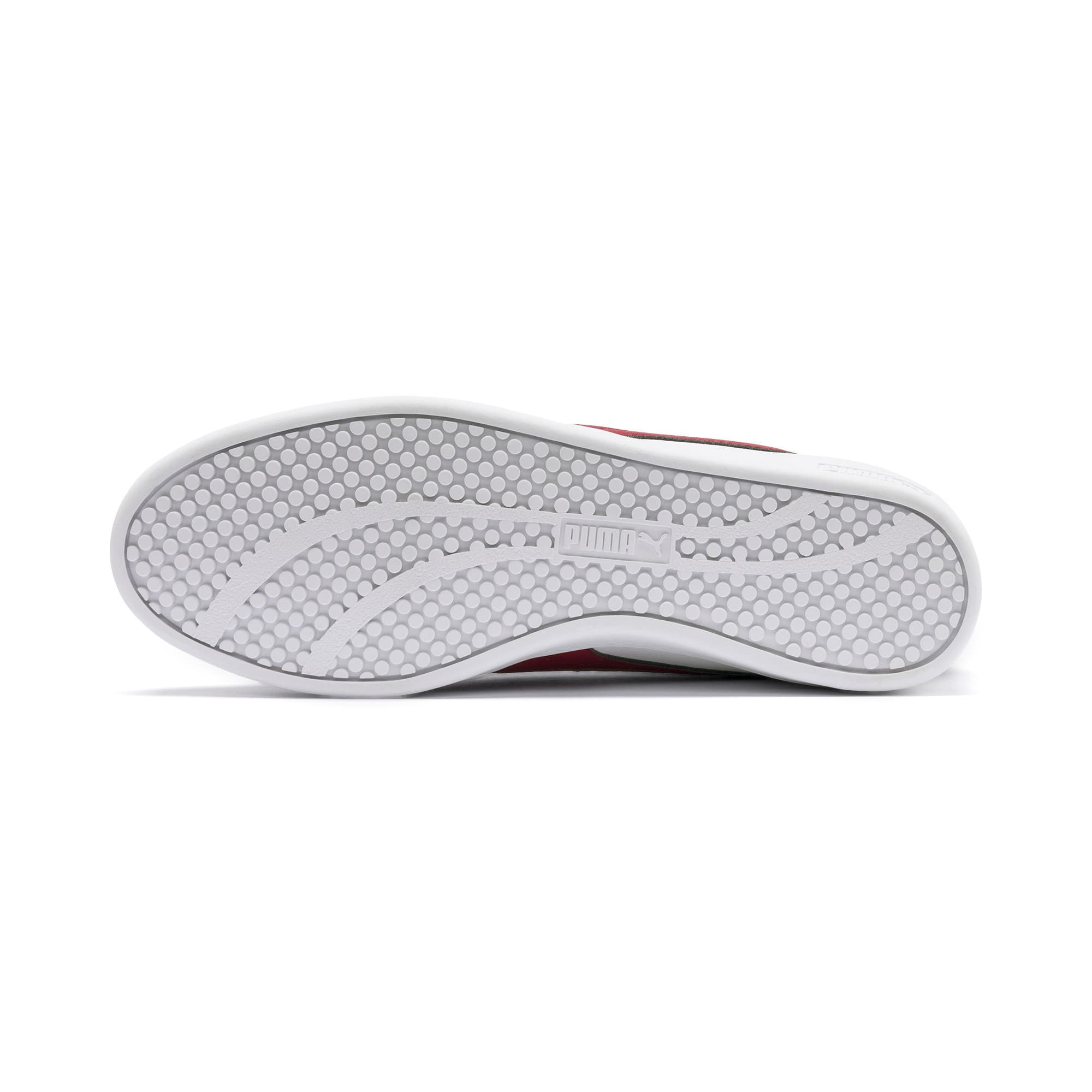 Thumbnail 5 of Basket en cuir Smash v2 pour femme, Puma White-Rhubarb, medium