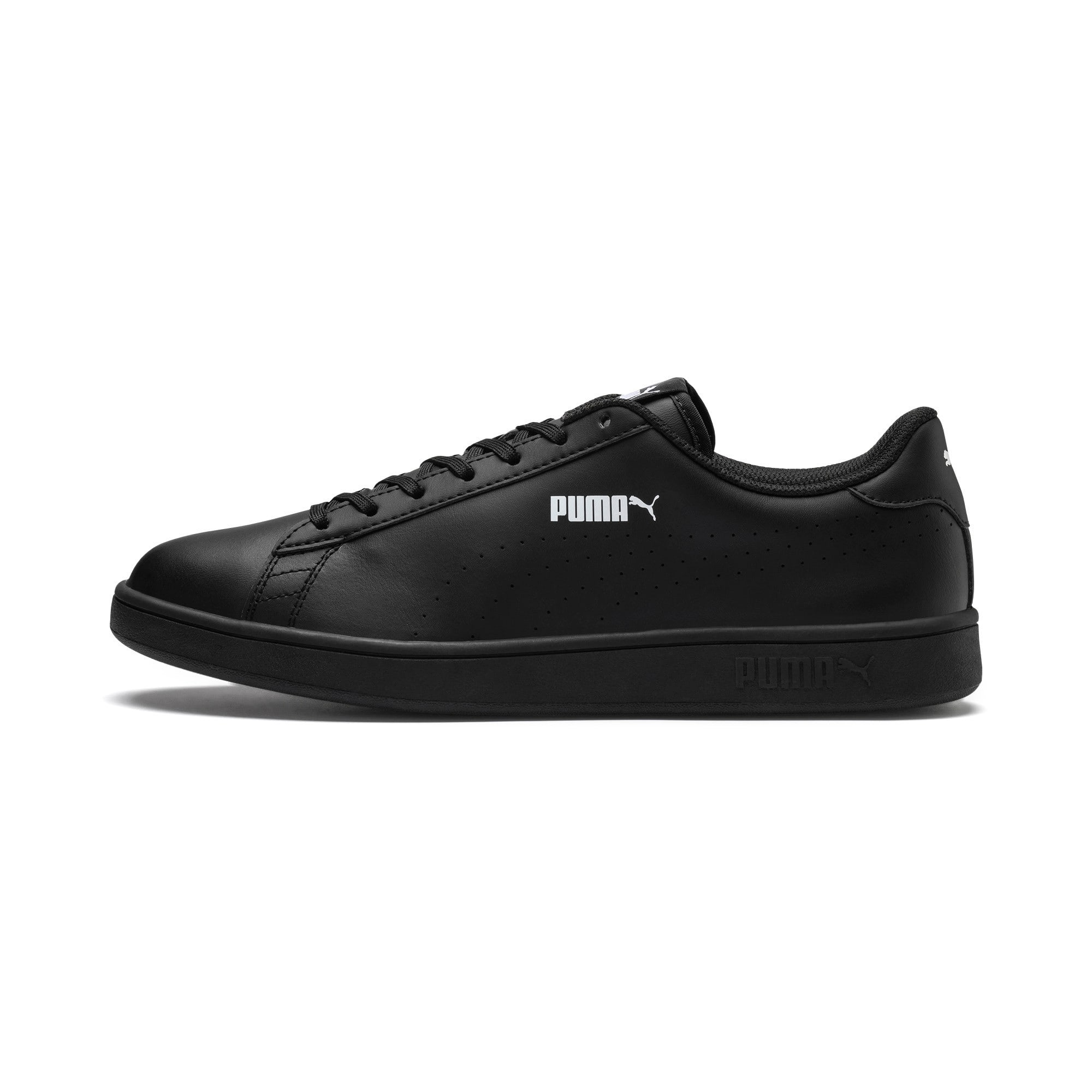 Thumbnail 1 of Smash v2 L Perf Trainers, Puma Black-Puma Black, medium