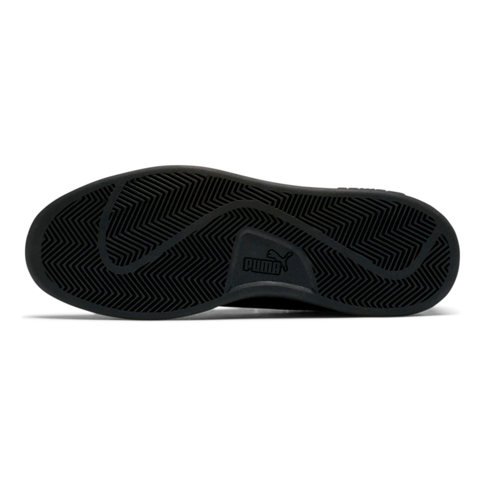Thumbnail 4 of PUMA Smash v2 Leather Perf Sneakers, Puma Black-Puma Black, medium