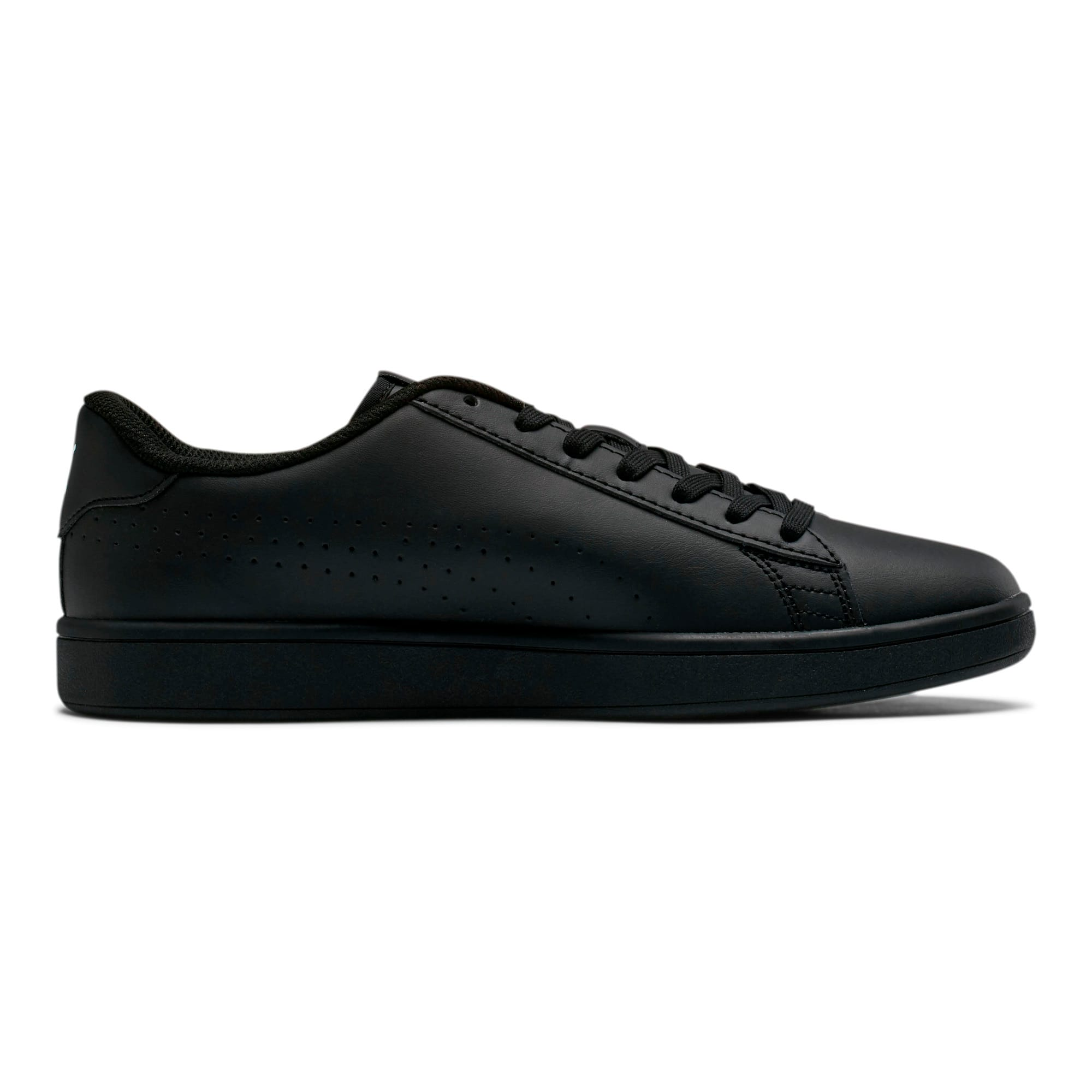 Thumbnail 5 of PUMA Smash v2 Leather Perf Sneakers, Puma Black-Puma Black, medium