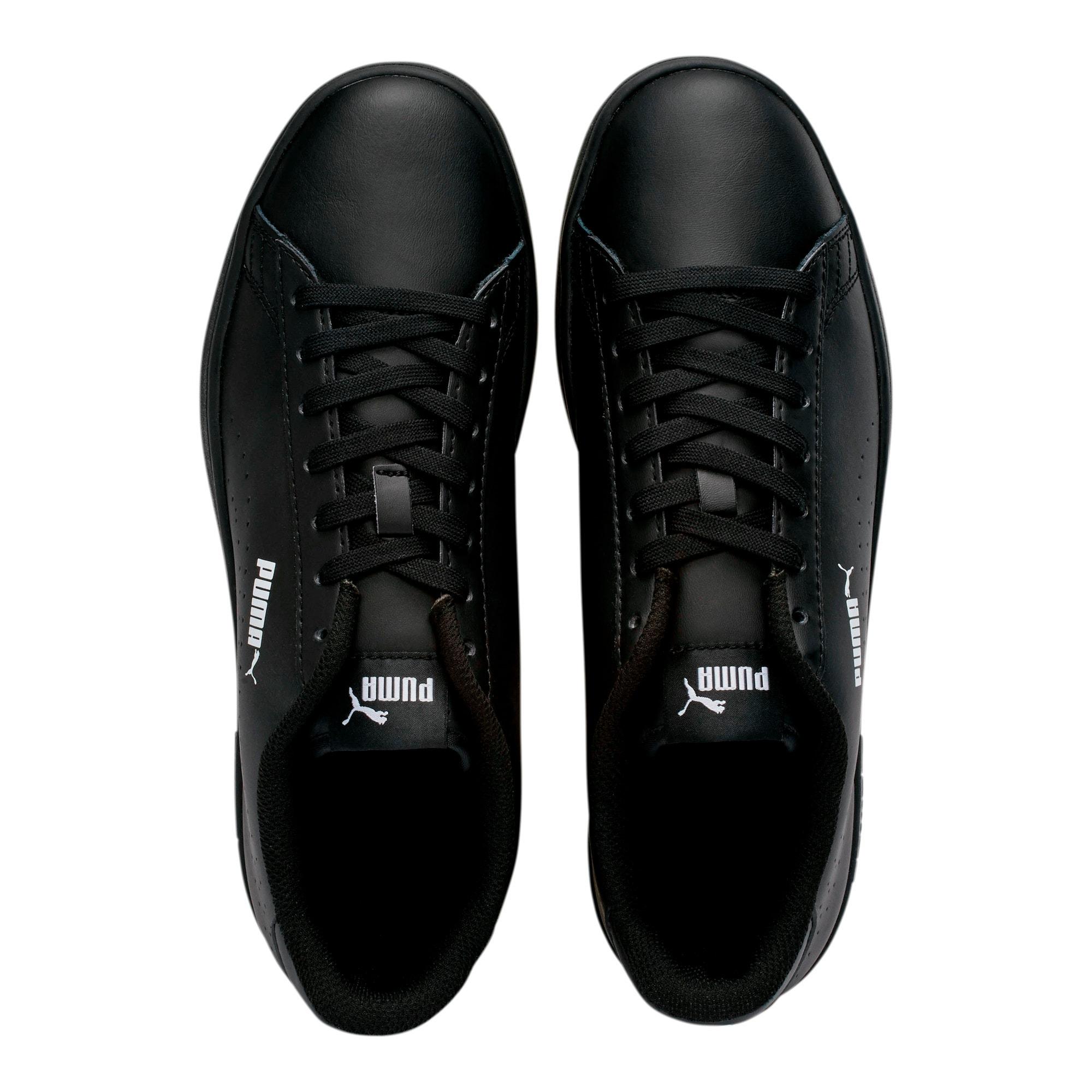 Thumbnail 6 of PUMA Smash v2 Leather Perf Sneakers, Puma Black-Puma Black, medium