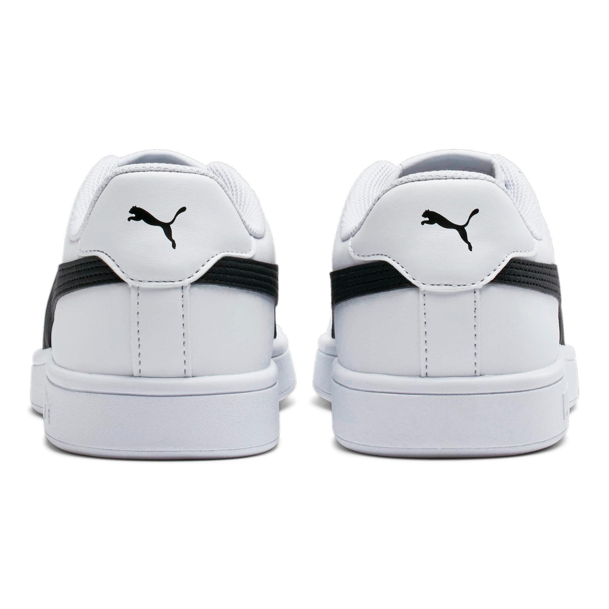 Thumbnail 4 of Smash v2 Leather Sneakers, Puma White-Puma Black, medium
