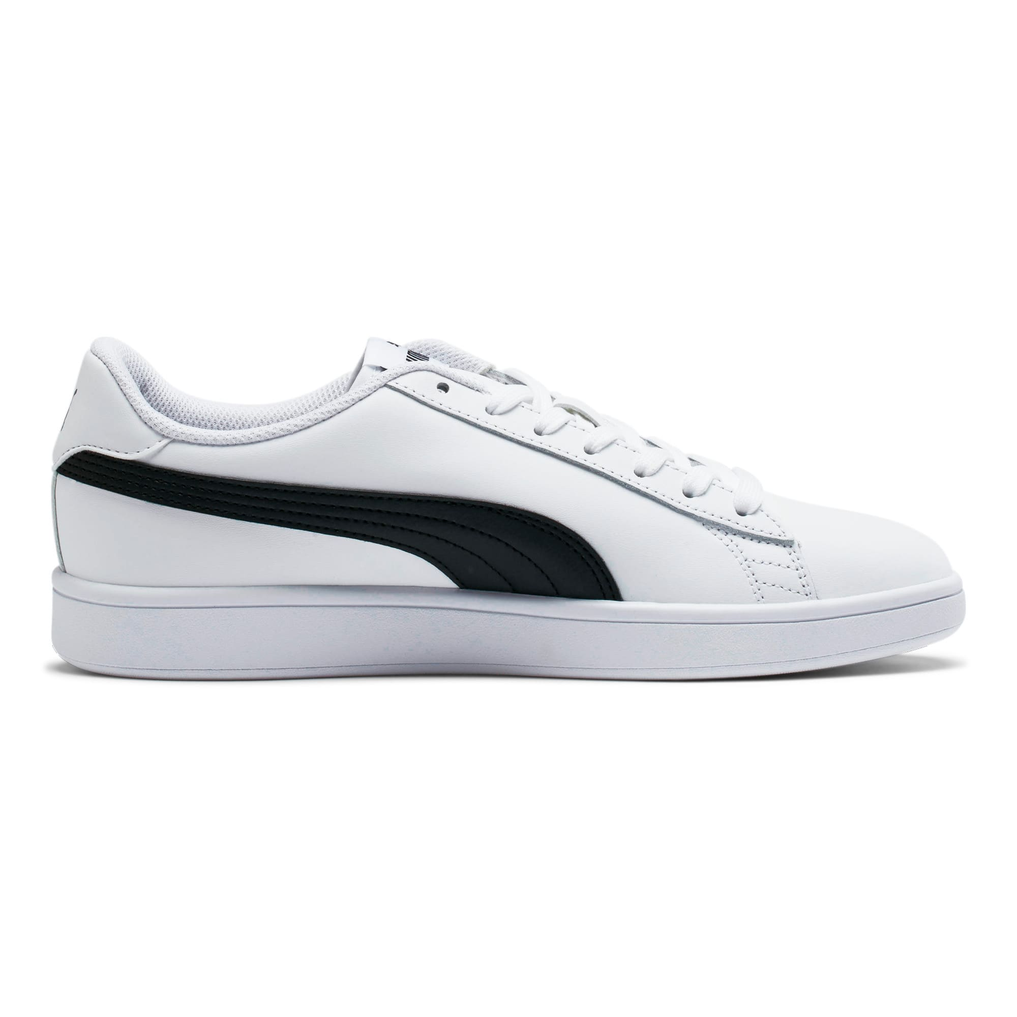 Thumbnail 5 of Smash v2 Leather Sneakers, Puma White-Puma Black, medium