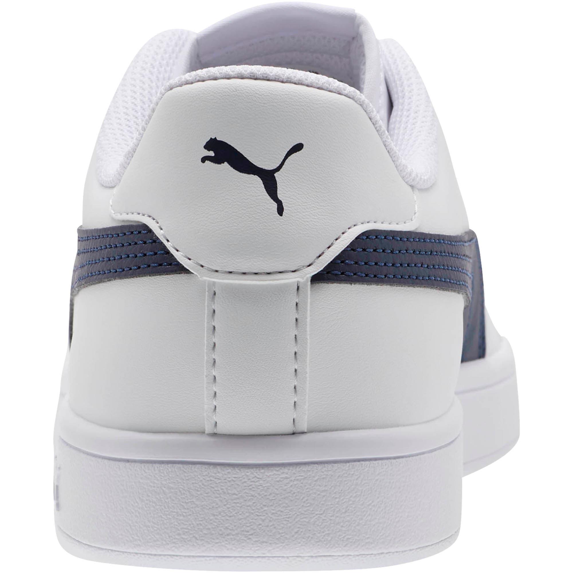 Thumbnail 3 of PUMA Smash v2 Sneakers, Puma White-Peacoat, medium
