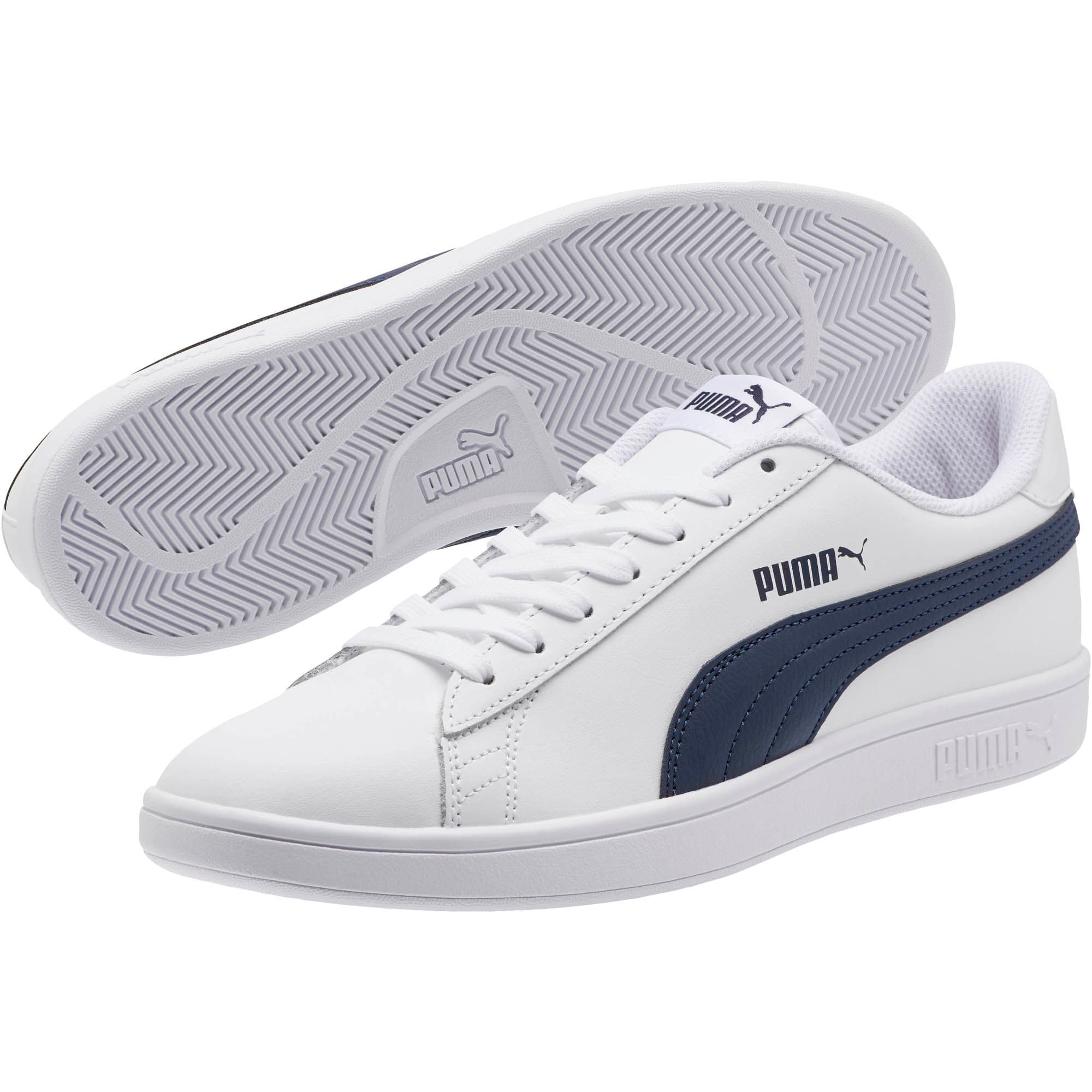 PUMA Smash v2 Sneakers, Puma White-Peacoat, large
