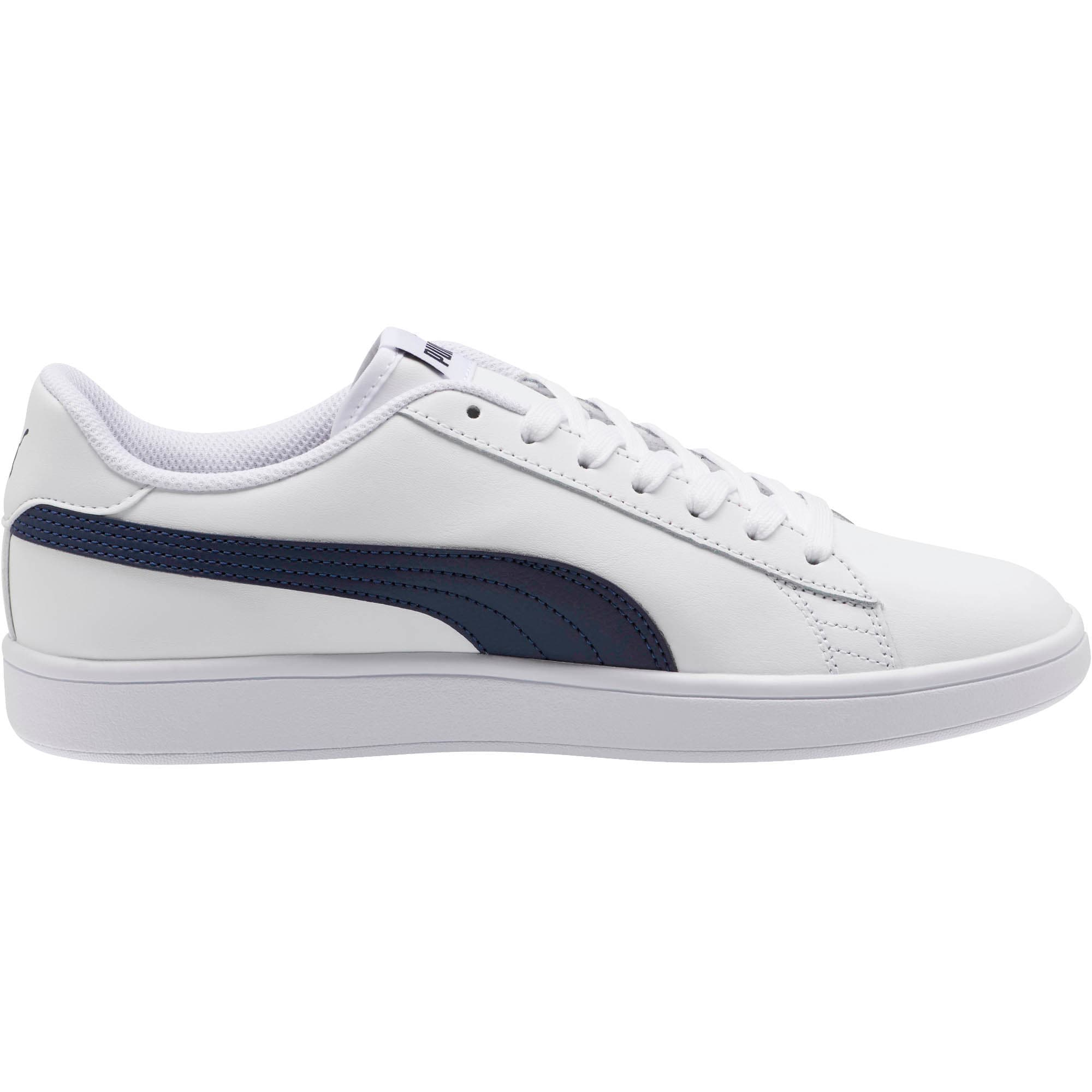Thumbnail 4 of PUMA Smash v2 Sneakers, Puma White-Peacoat, medium