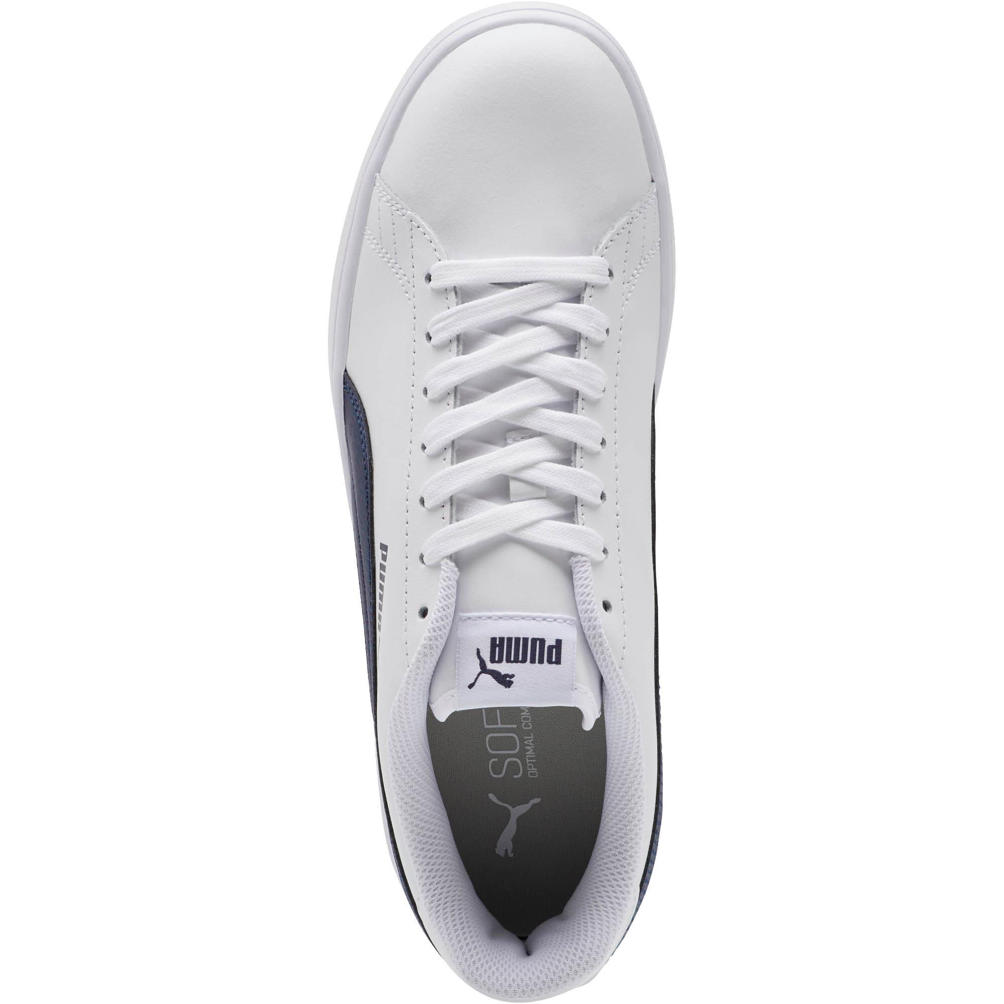 Thumbnail 5 of PUMA Smash v2 Sneakers, Puma White-Peacoat, medium