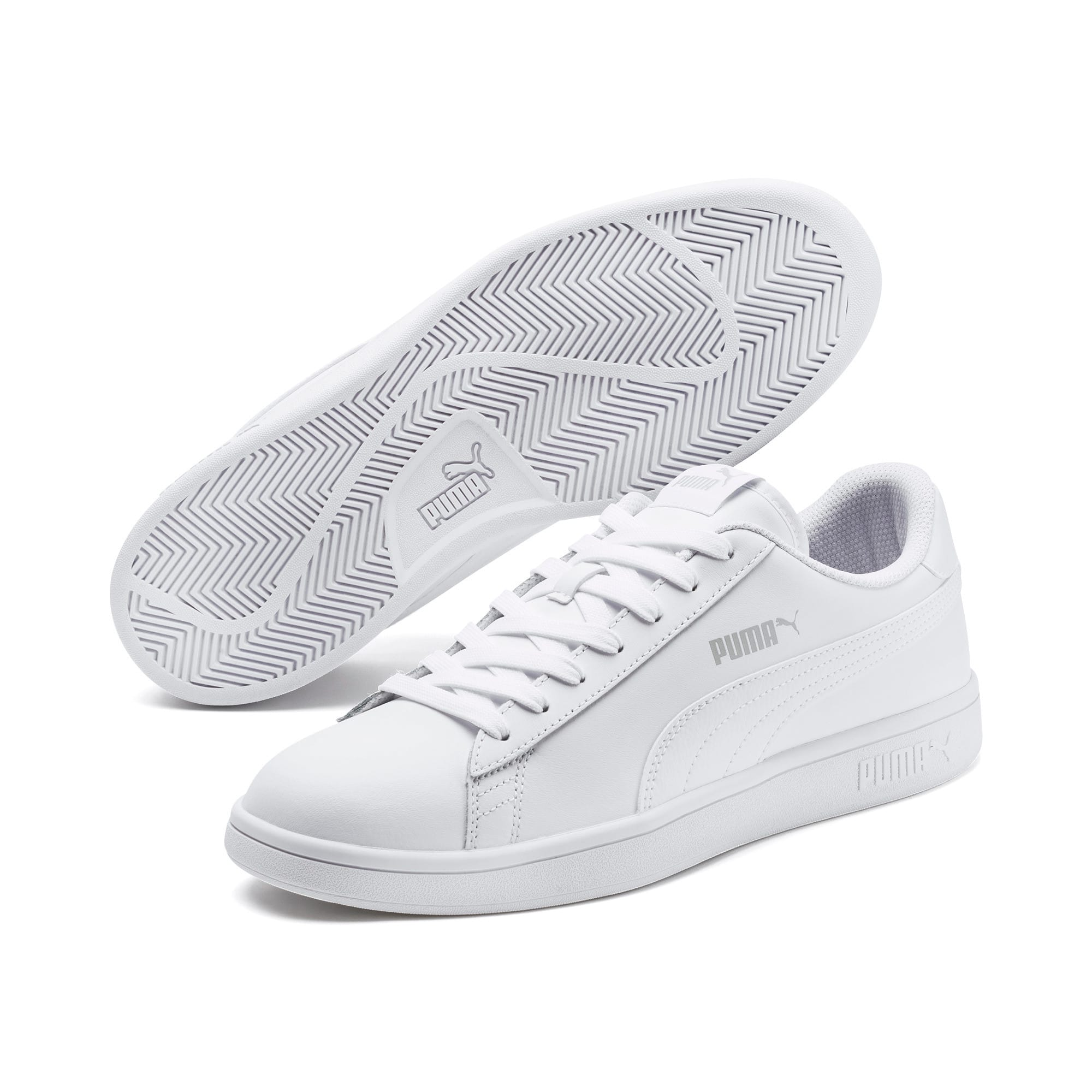 Thumbnail 2 of Puma Smash v2 L, Puma White-Puma White, medium