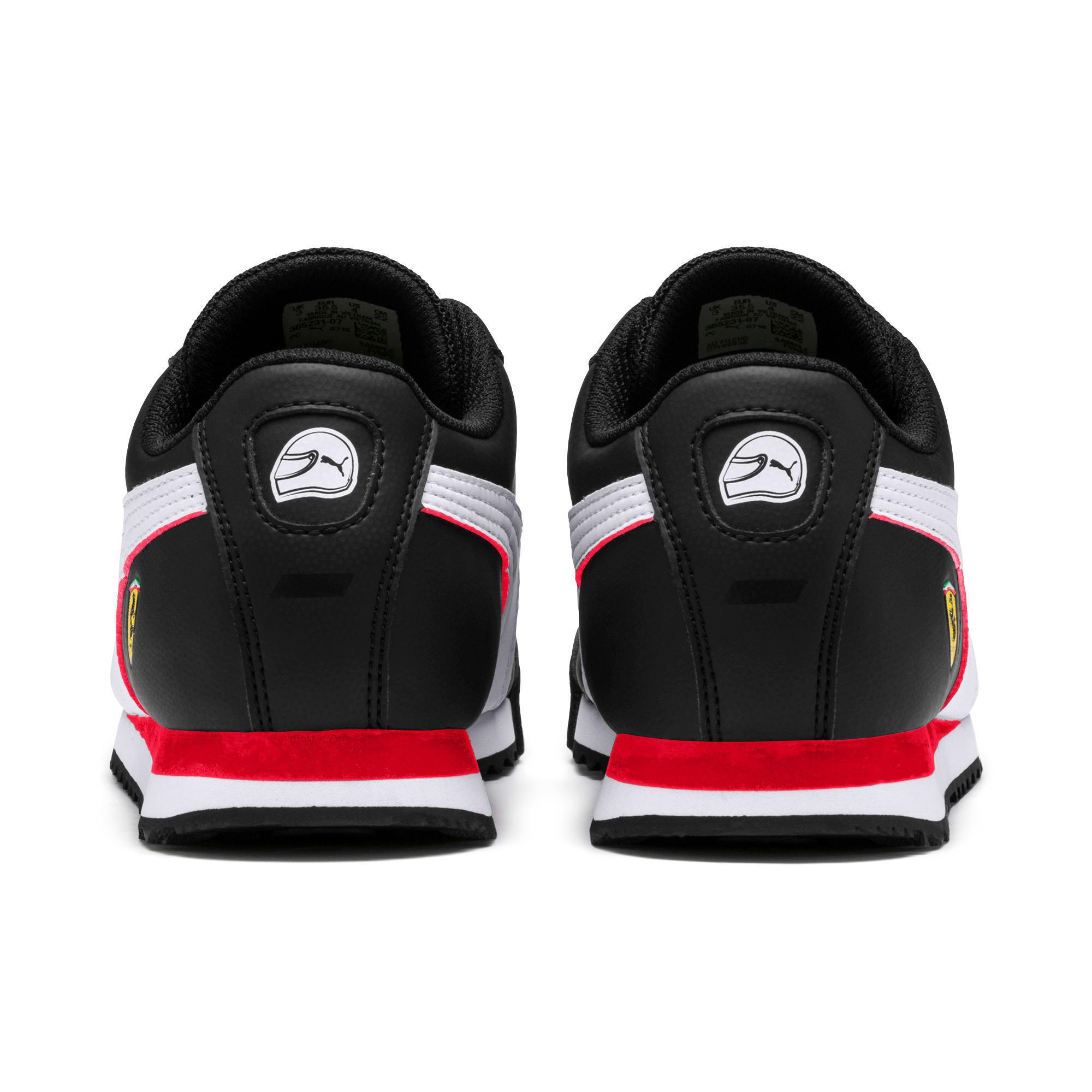 Thumbnail 4 of Scuderia Ferrari Roma Sneakers JR, Black-White-Rosso Corsa, medium
