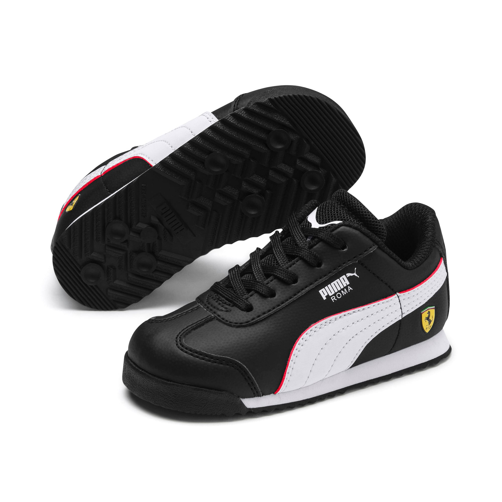 Thumbnail 2 of Scuderia Ferrari Roma Toddler Shoes, Black-White-Rosso Corsa, medium