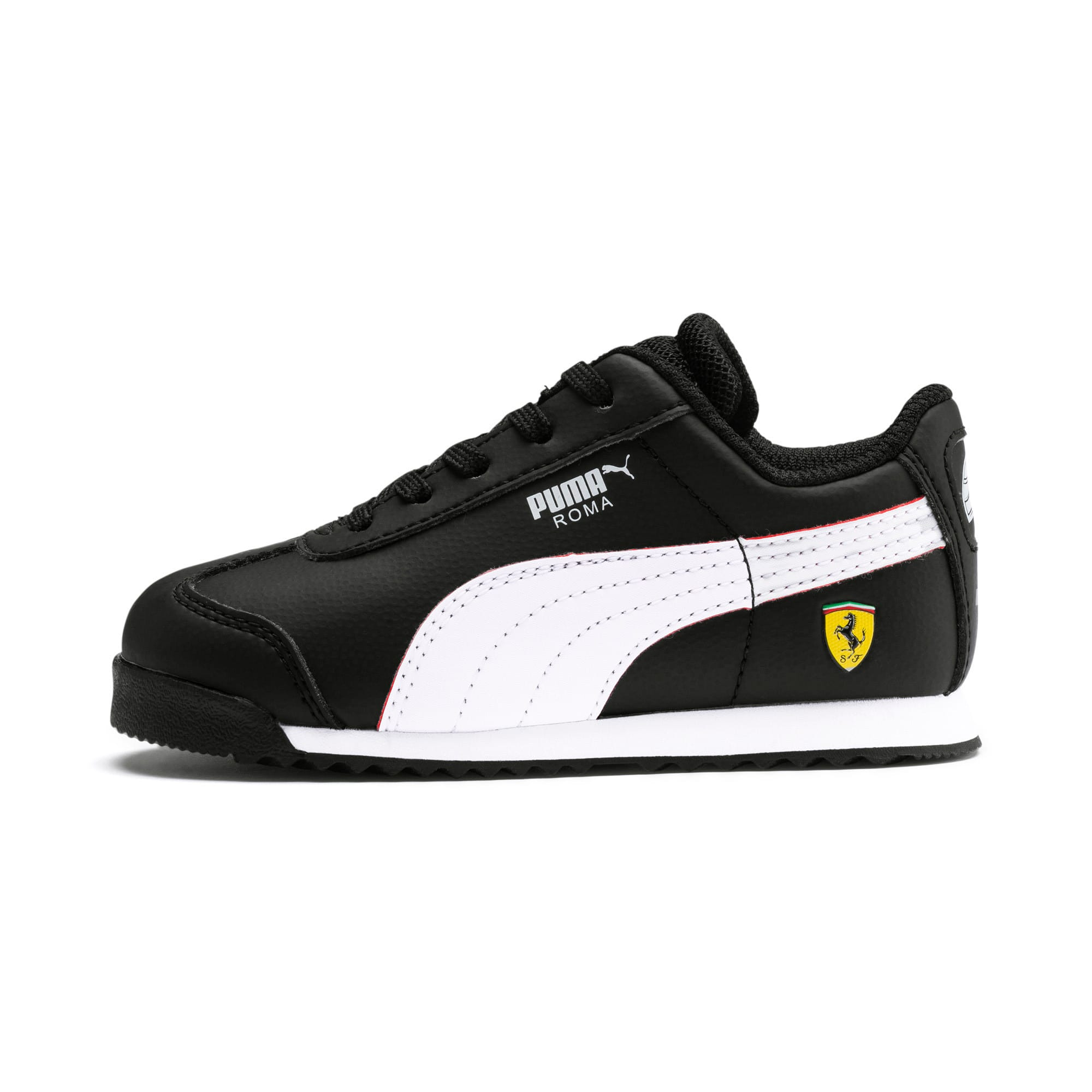 Thumbnail 1 of Scuderia Ferrari Roma Toddler Shoes, Black-White-Rosso Corsa, medium