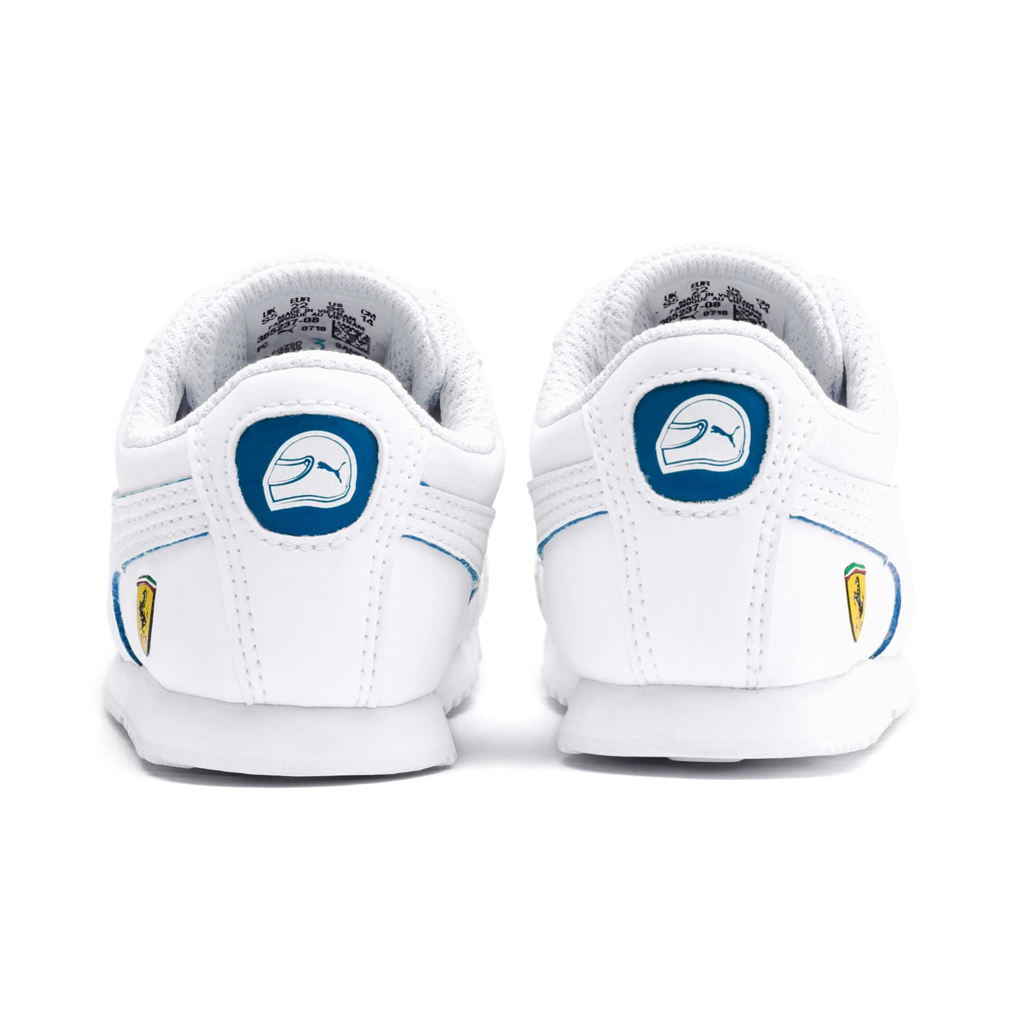 Thumbnail 3 of Scuderia Ferrari Roma Toddler Shoes, White-White-Galaxy Blue, medium