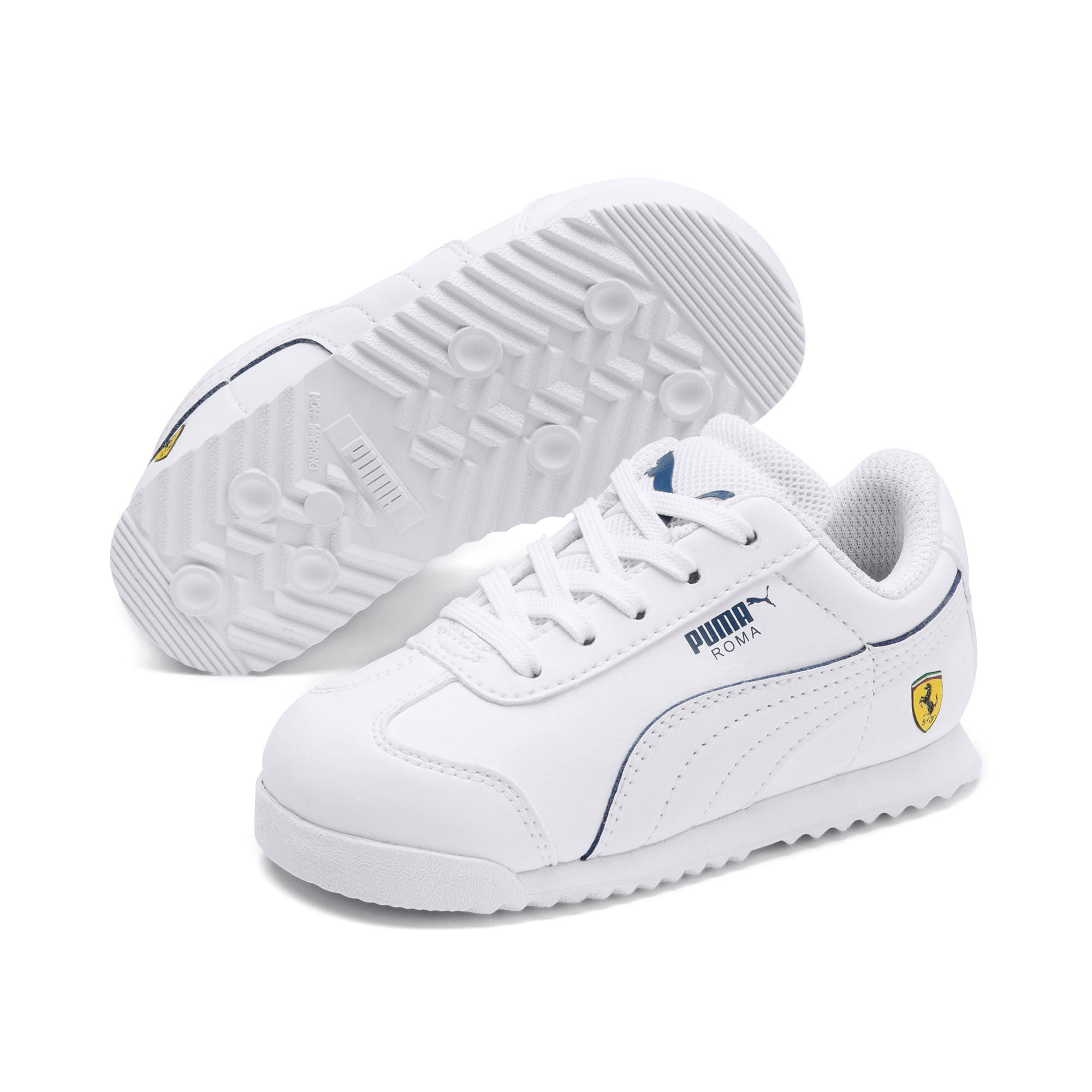 Thumbnail 2 of Scuderia Ferrari Roma Toddler Shoes, White-White-Galaxy Blue, medium