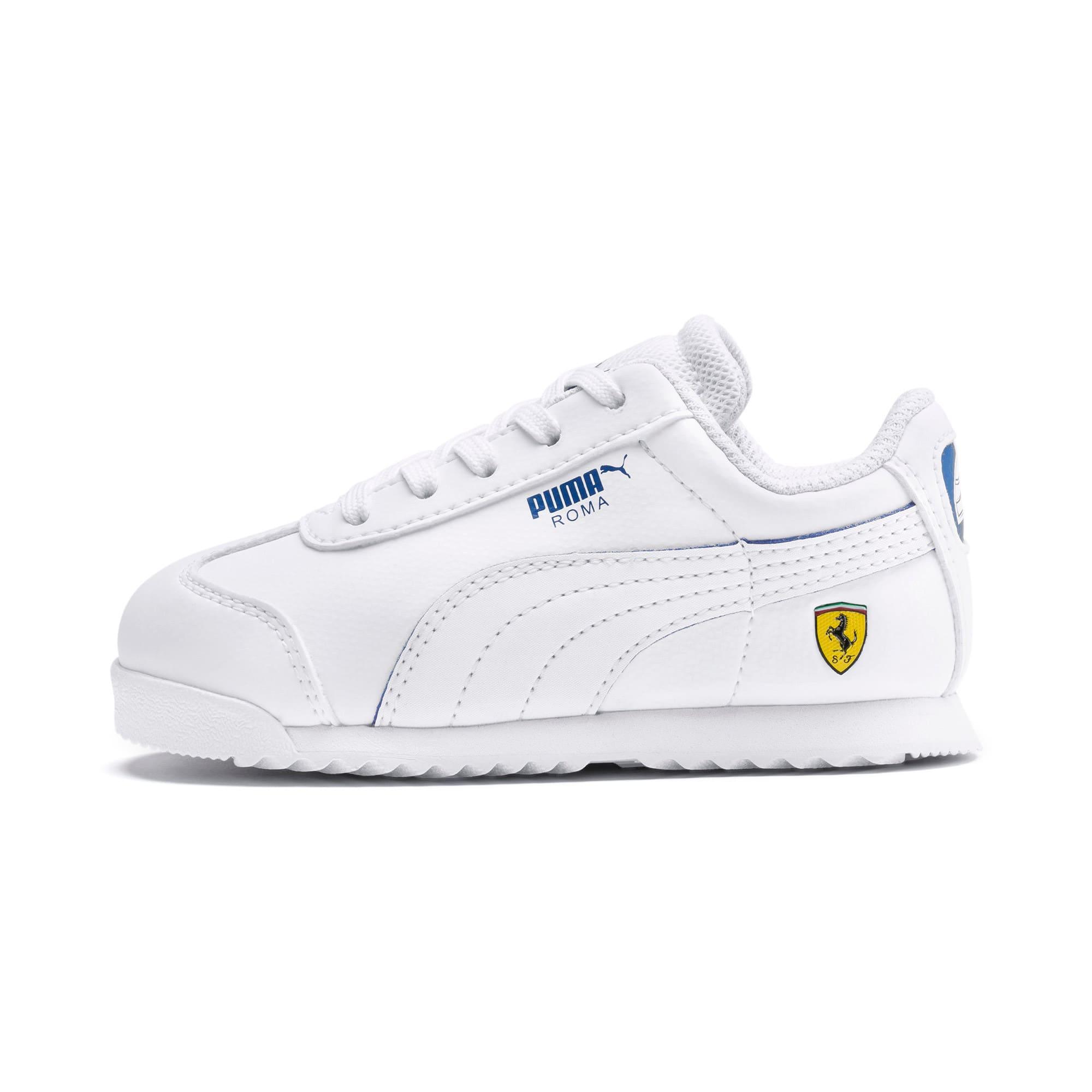 Thumbnail 1 of Scuderia Ferrari Roma Toddler Shoes, White-White-Galaxy Blue, medium